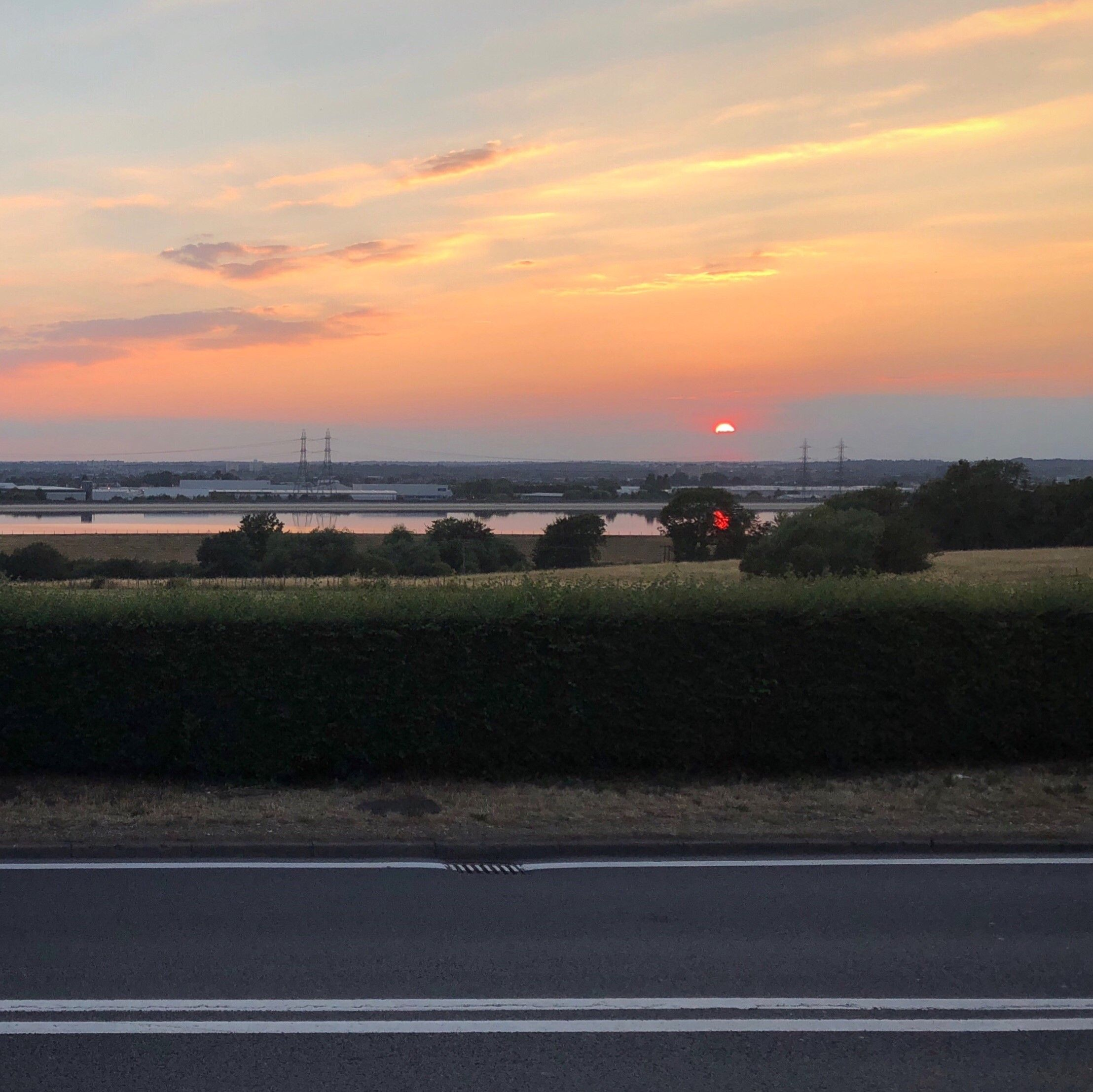 Sunset over the reservoirs