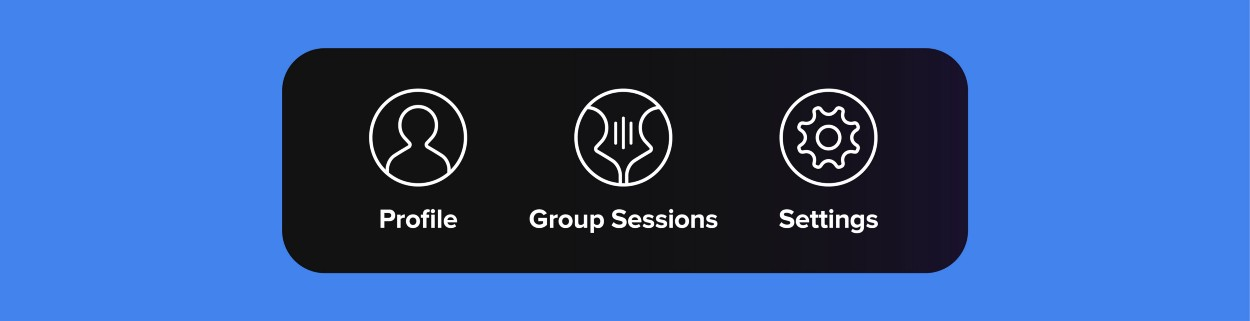 Added a Profile icon and a Group Session icon and slightly redesigned the icon style.