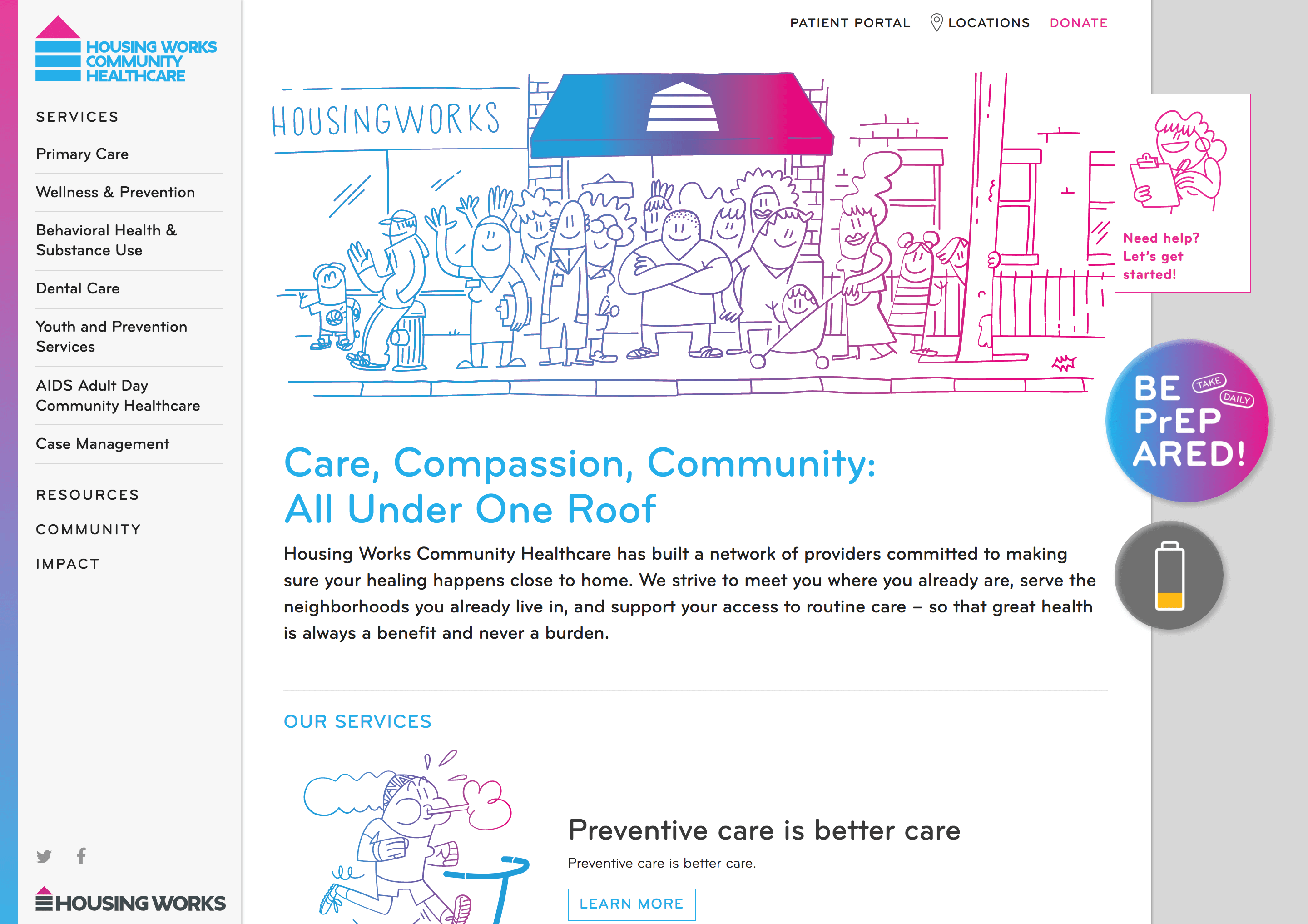 Care, Compassion, Community: All Under One Roof