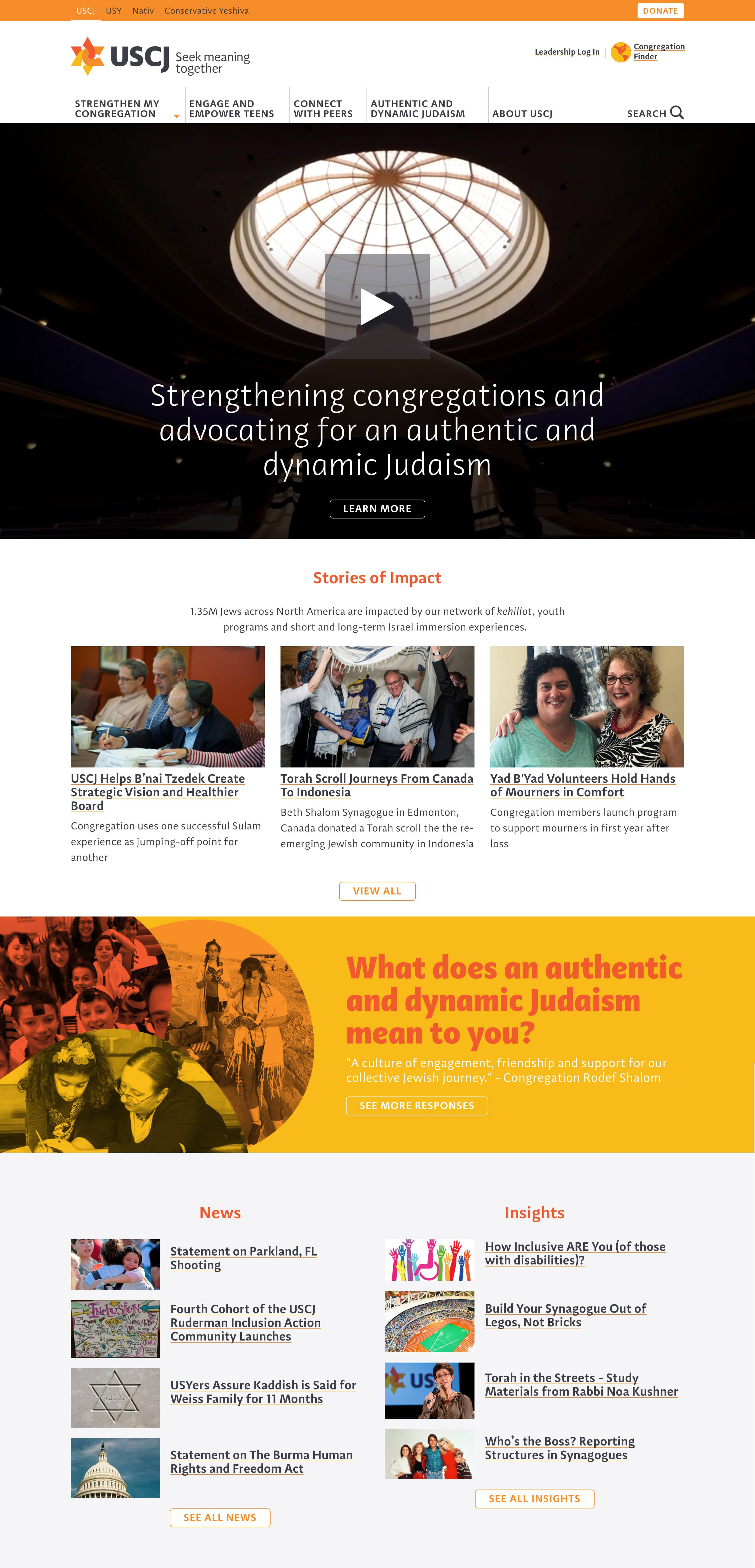 A mission-focused website for an organization representing hundreds of congregations across North America