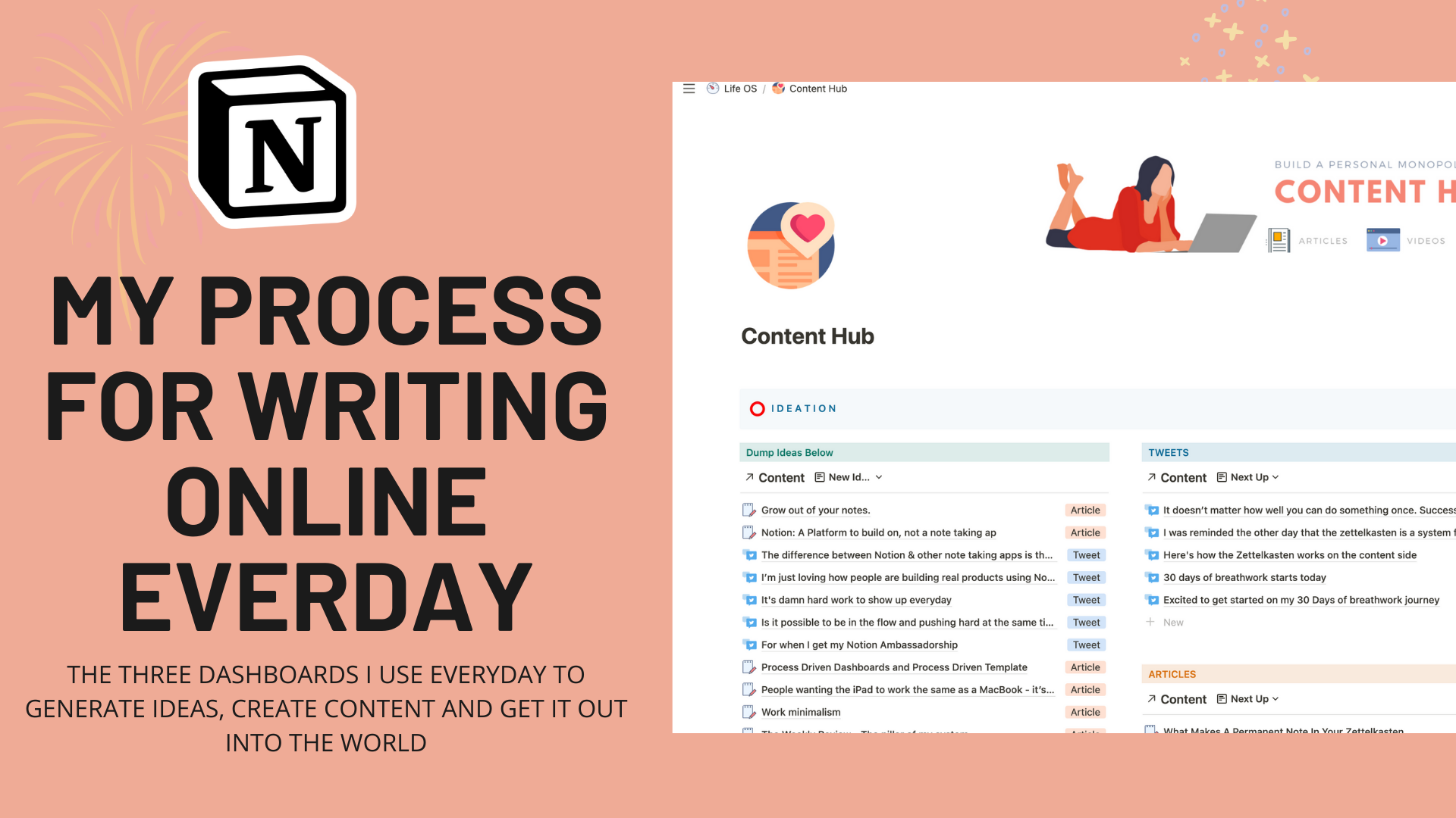 My Process For Writing Online every day: Notion Flow Dashboards