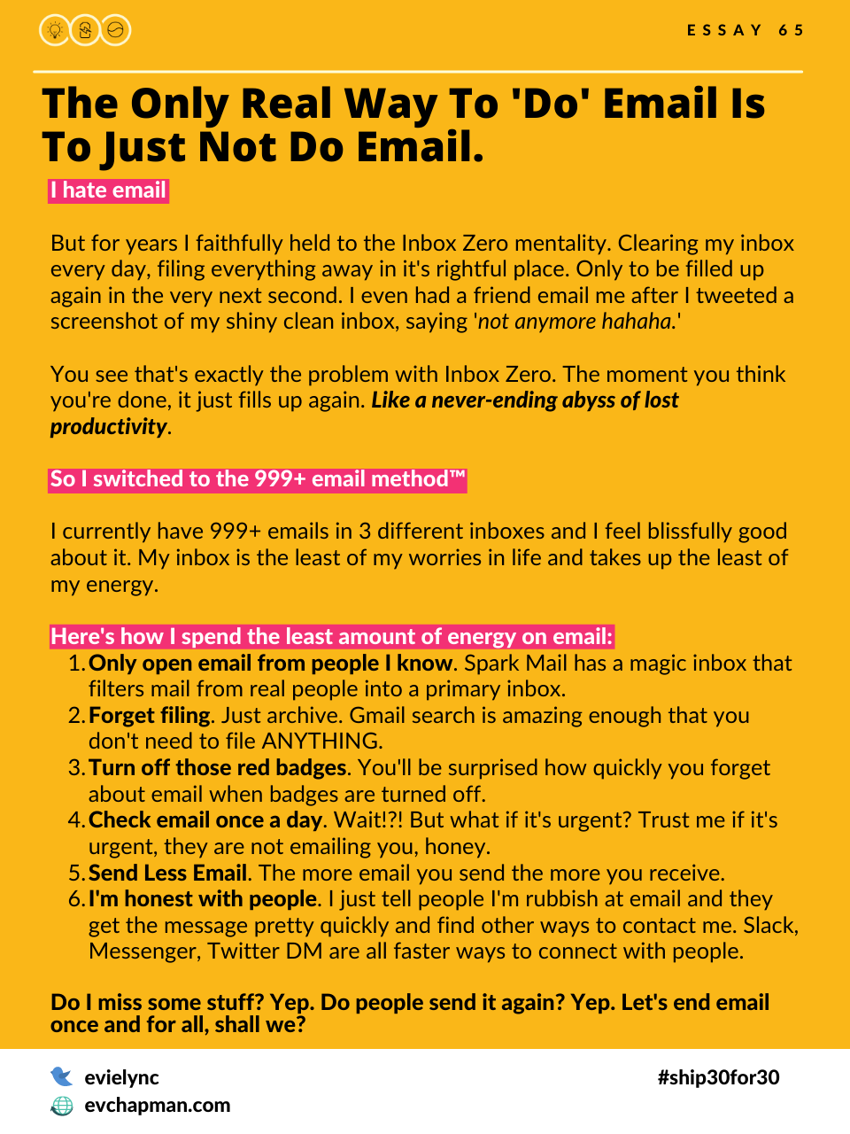 The Only Real Way To 'DO' Email Is To Just Not Do Email