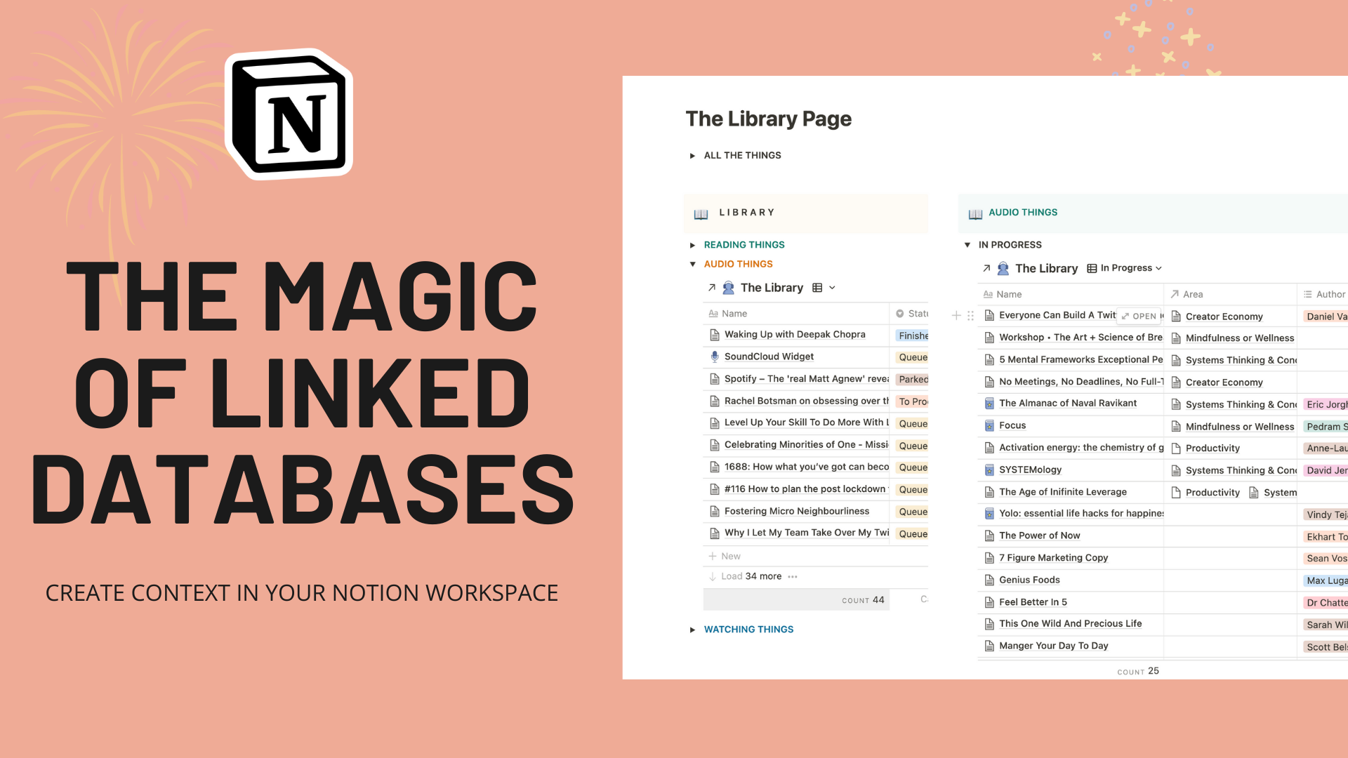 The Magic Of Linked Databases: Create Context in Your Notion Workspace