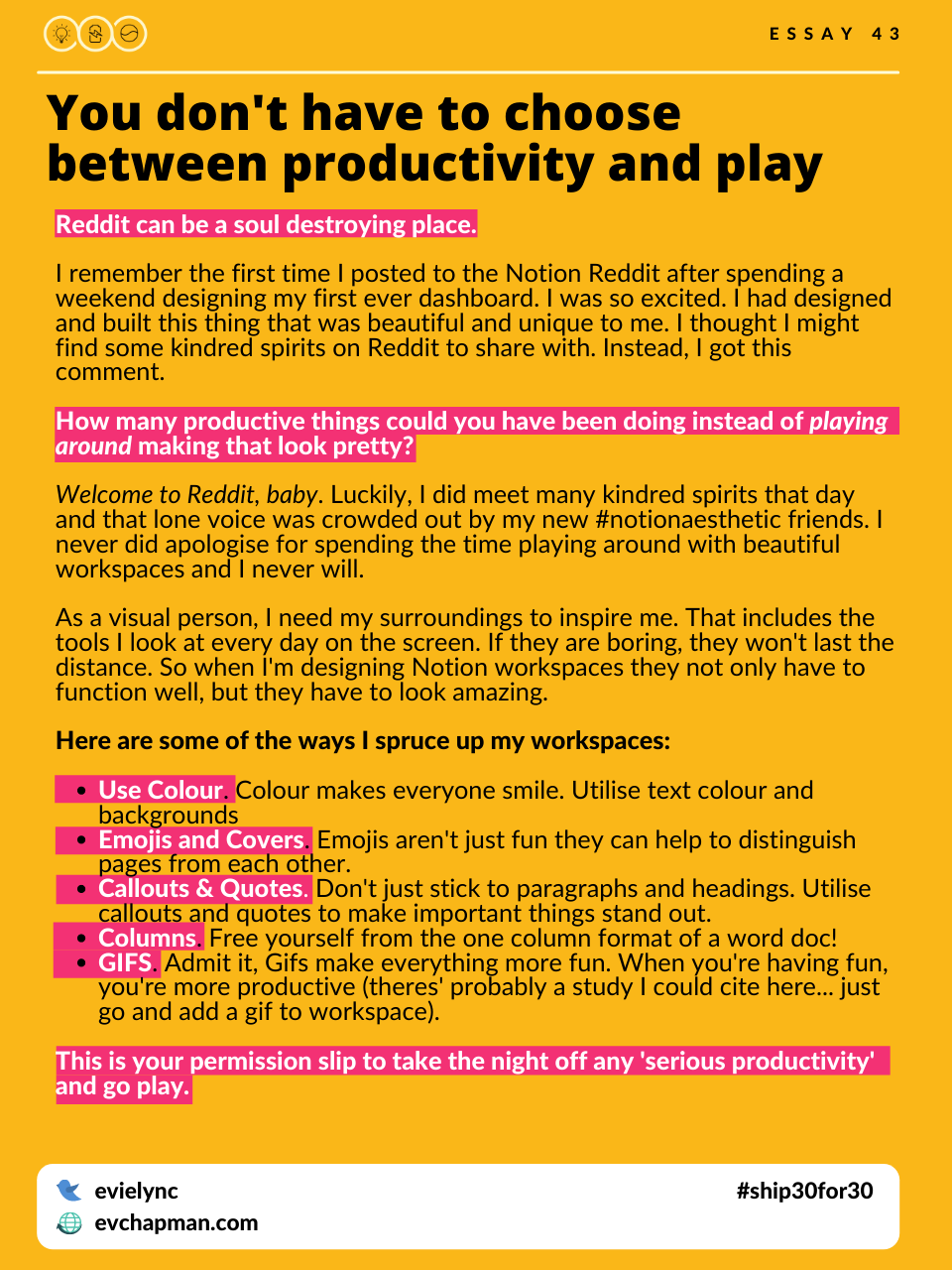 You Don't Have To Choose Between Productivity And Play