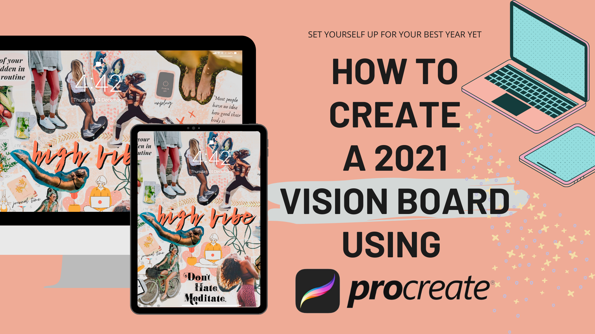 How To Create A 2021 Vision Board Using Procreate