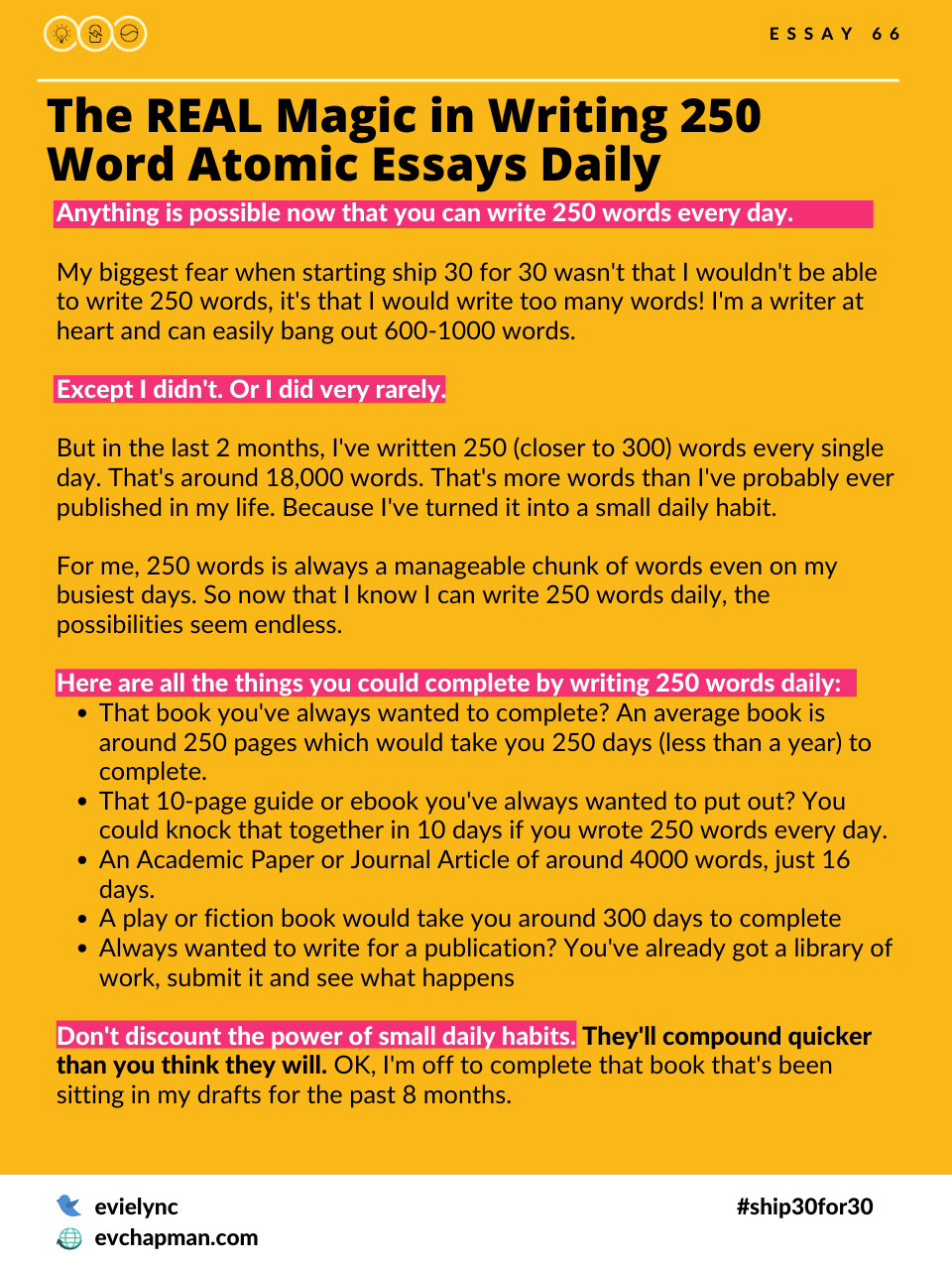 The Real Magic In Writing 250 Words Atomic Essays Daily