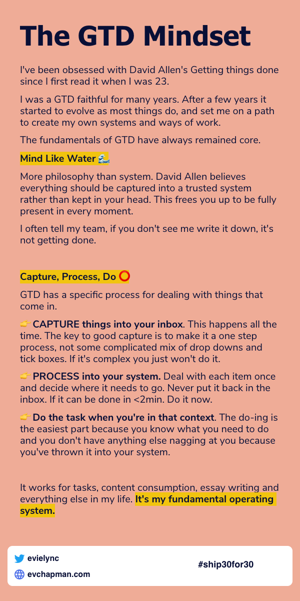 Day 11: The GTD Mindset