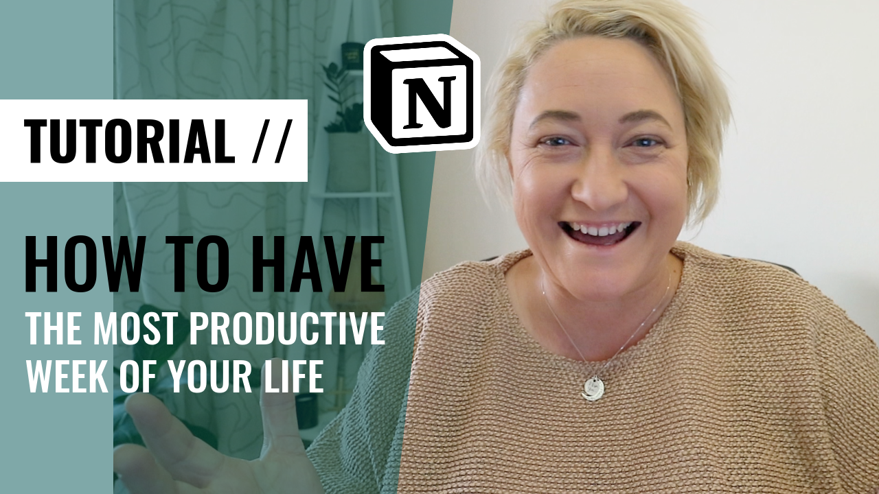 [VIDEO] HOW TO HAVE YOUR MOST PRODUCTIVE WEEK USING NOTION & A WEEKLY AGENDA