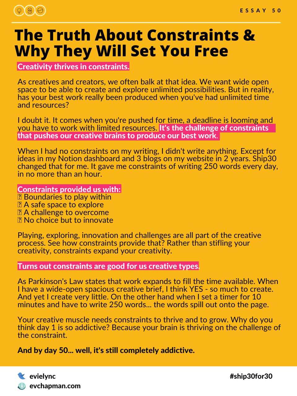 The Truth About Constraint & Why They Will Set You Free