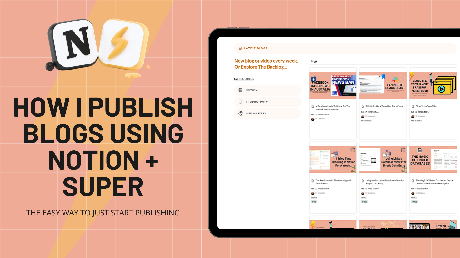 Notion + Super: The Power Combo For Blog Publishing