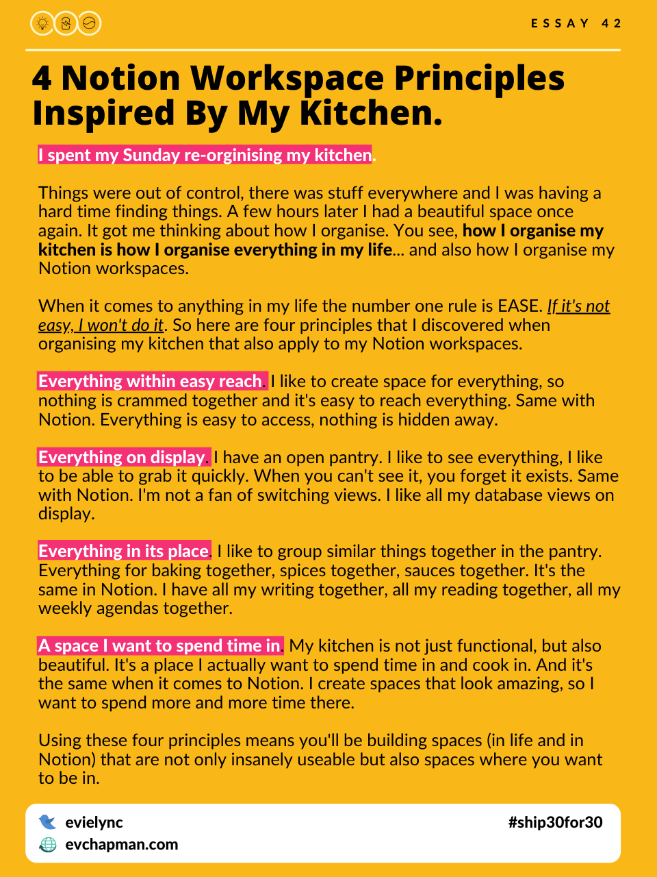 4 Notion Workspace Principles Inspired By My Kitchen