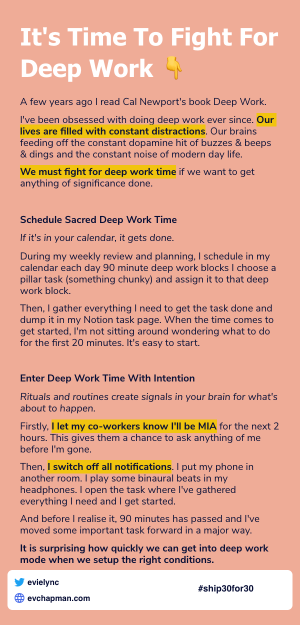Day 10: It's Time To Fight For Deep Work