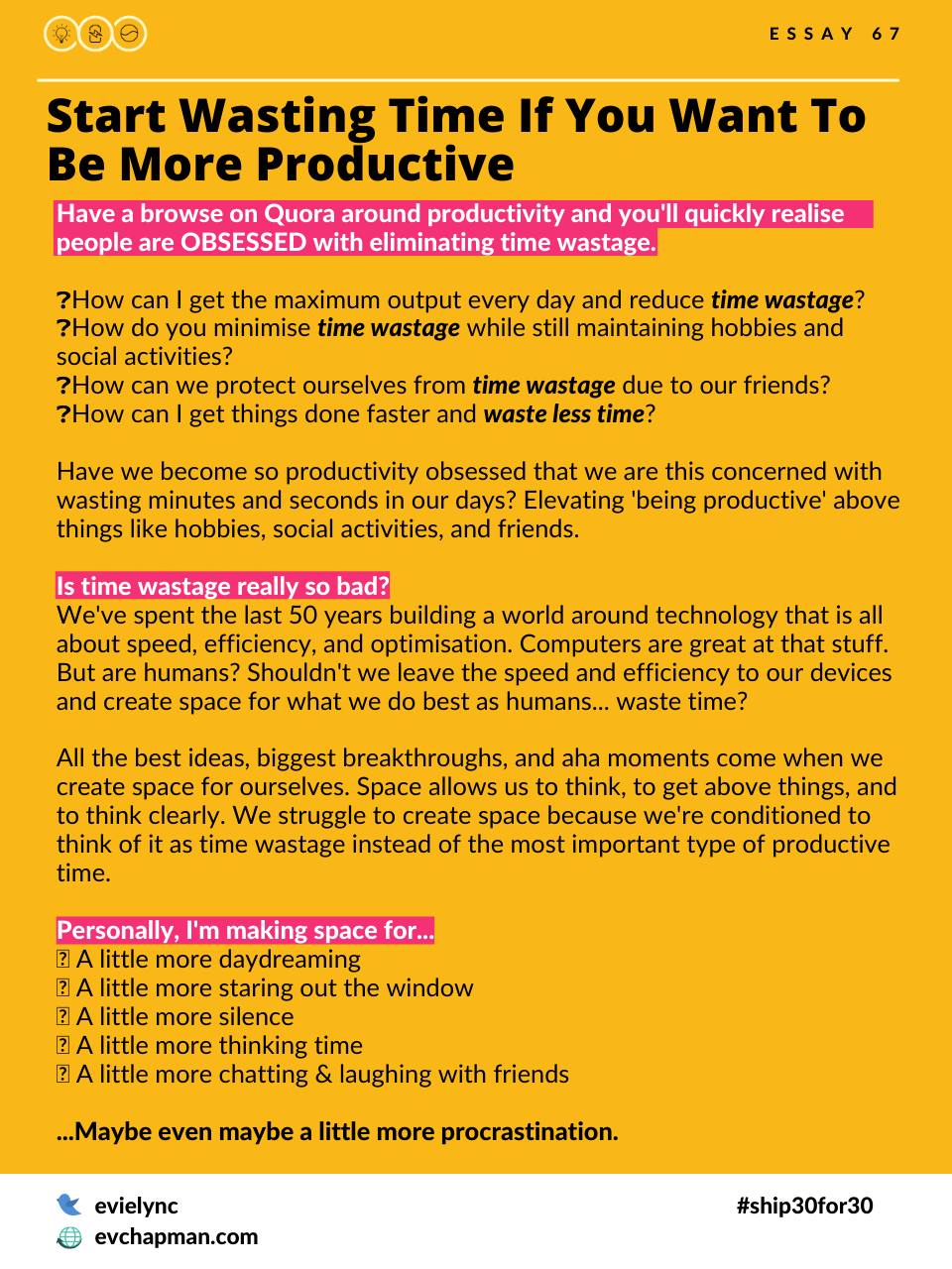 Start Wasting Time If You Want To Be More Productive