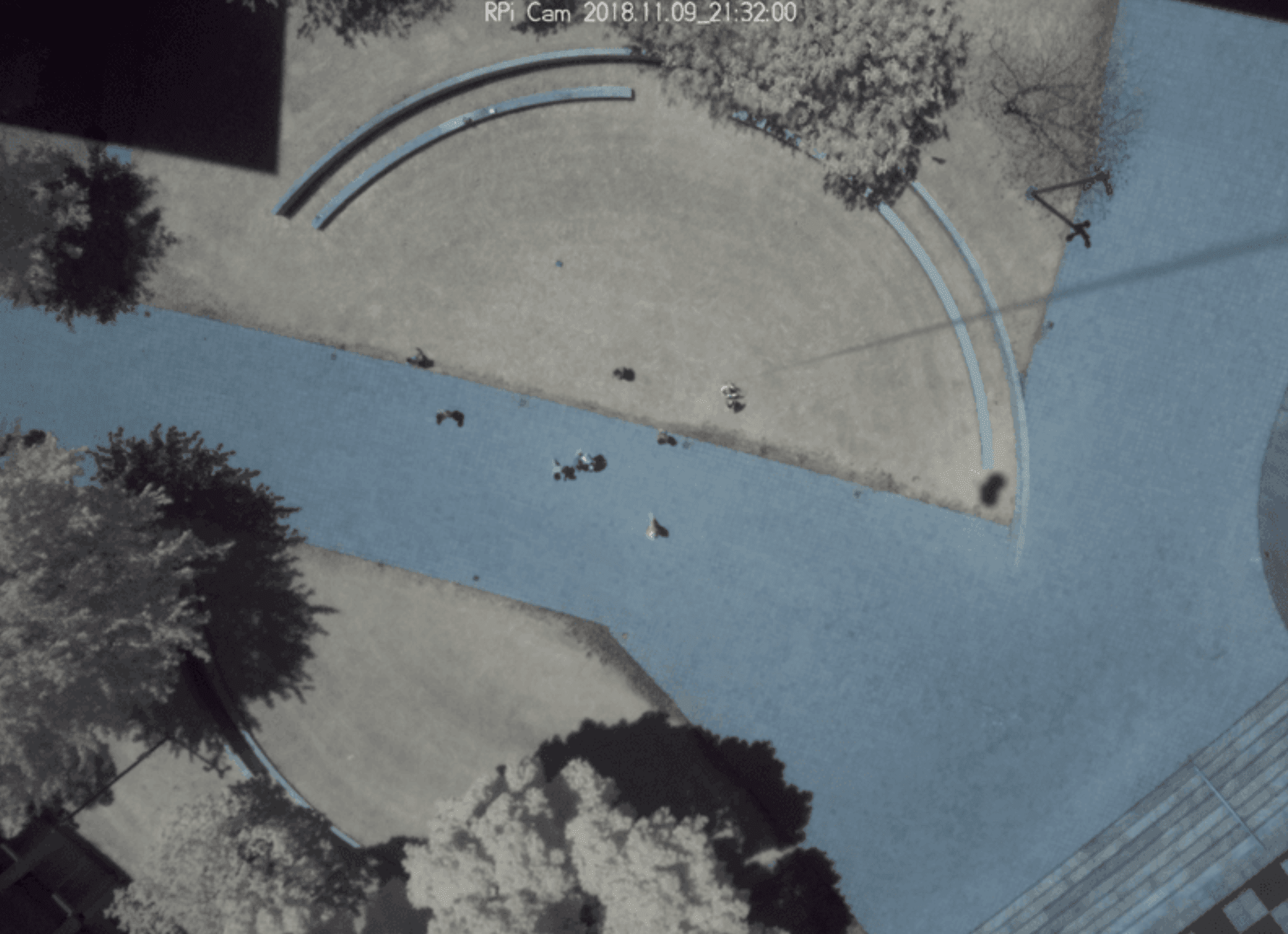 Aerial, infrared view of the MIT campus taken from a ballon during play-testing!