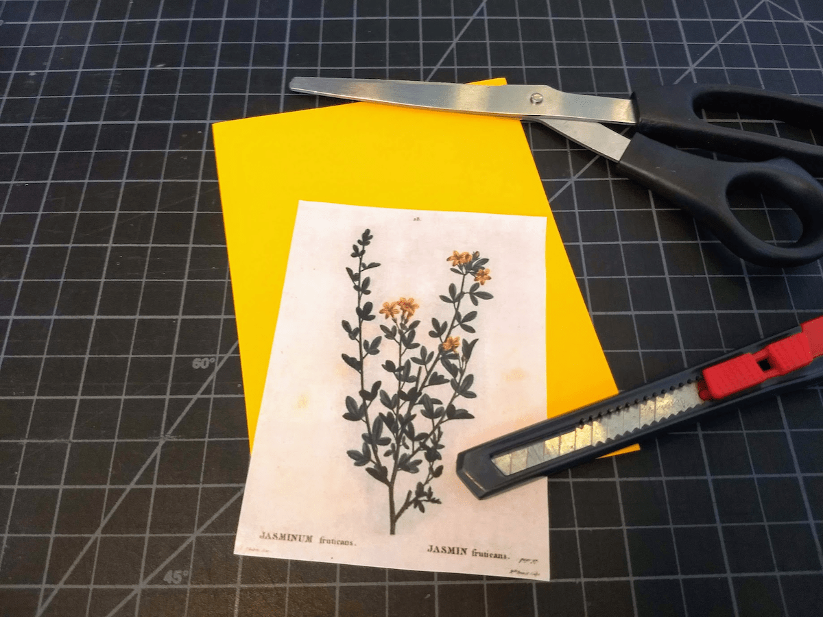 Choose some craft paper as the back for your image to keep it sturdy.