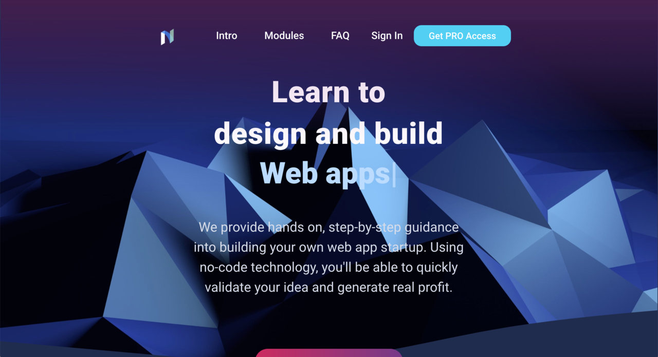 Nocodify | Learn to design and build web apps using no code