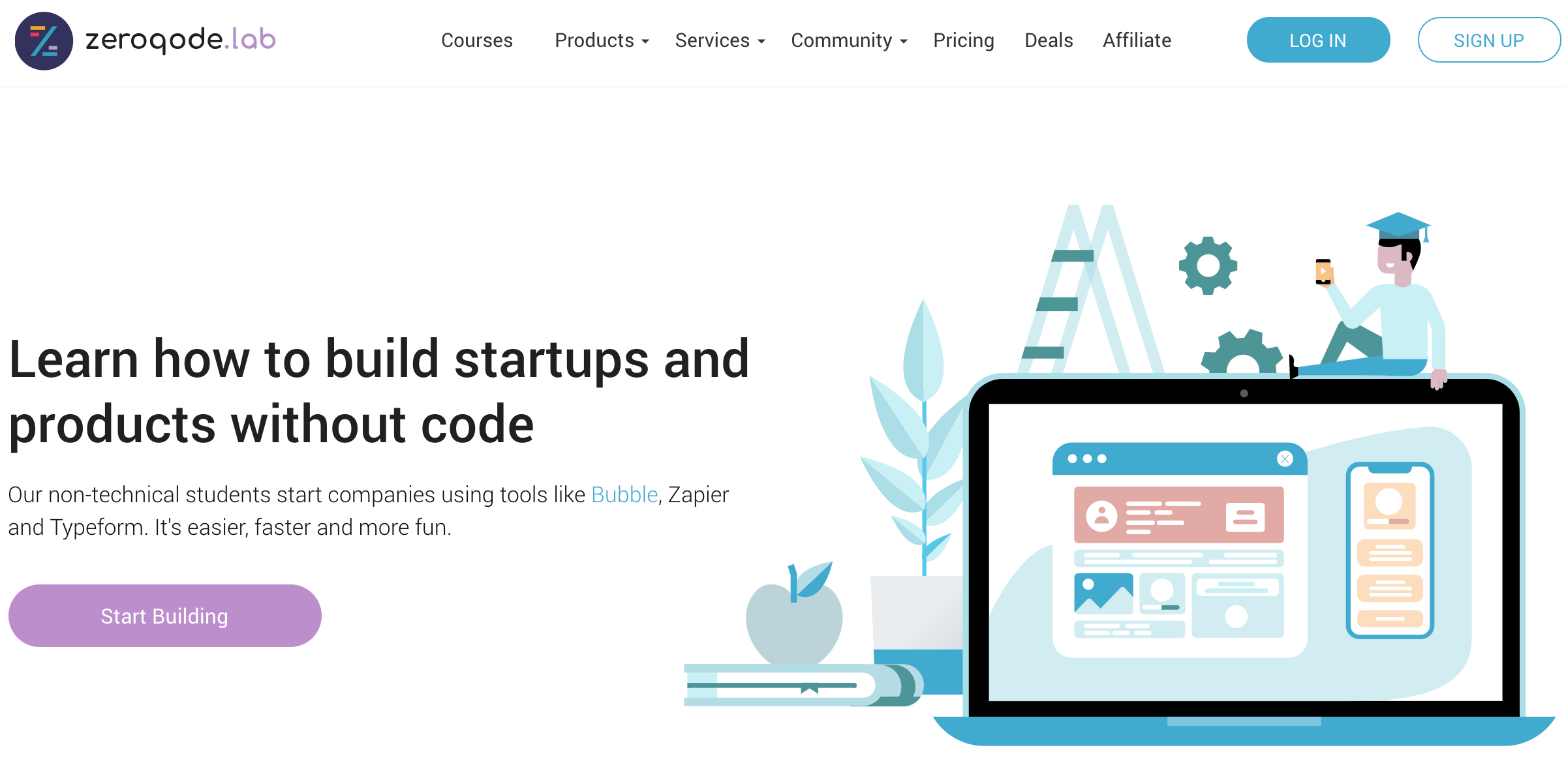 Zeroqode Lab | Build Code-Free Startups and Products