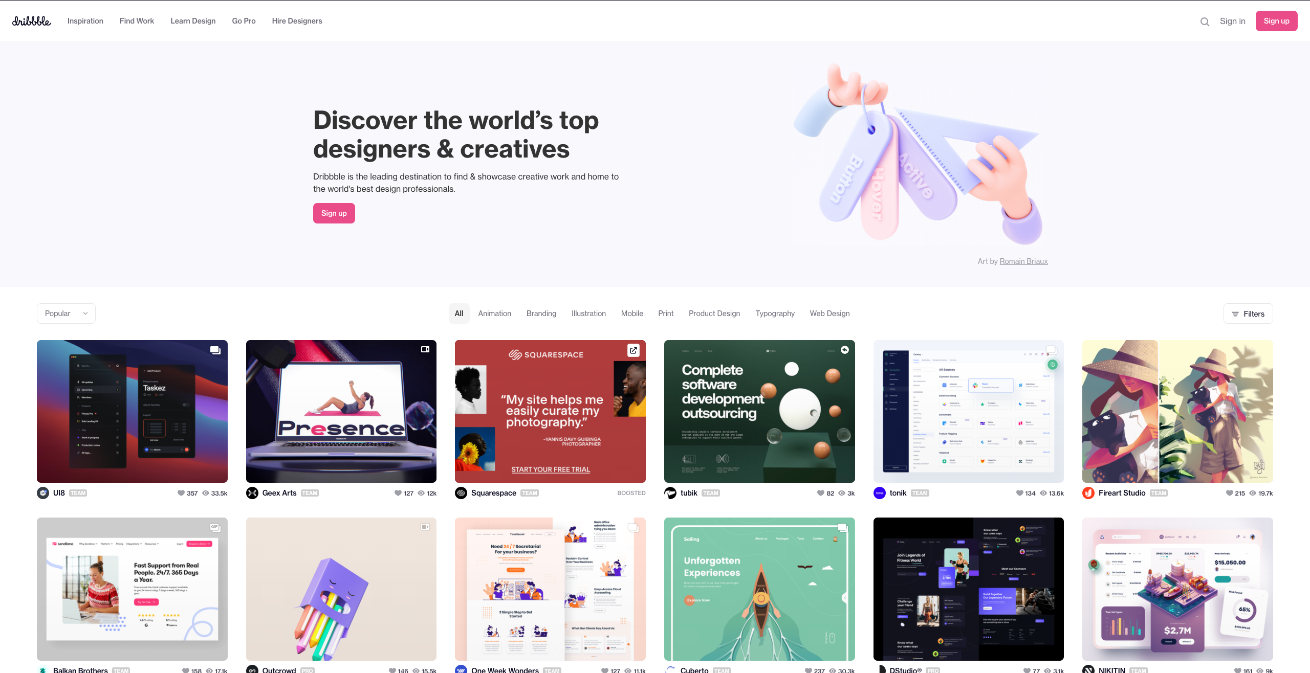 Dribbble - Discover the World's Top Designers & Creative Professionals