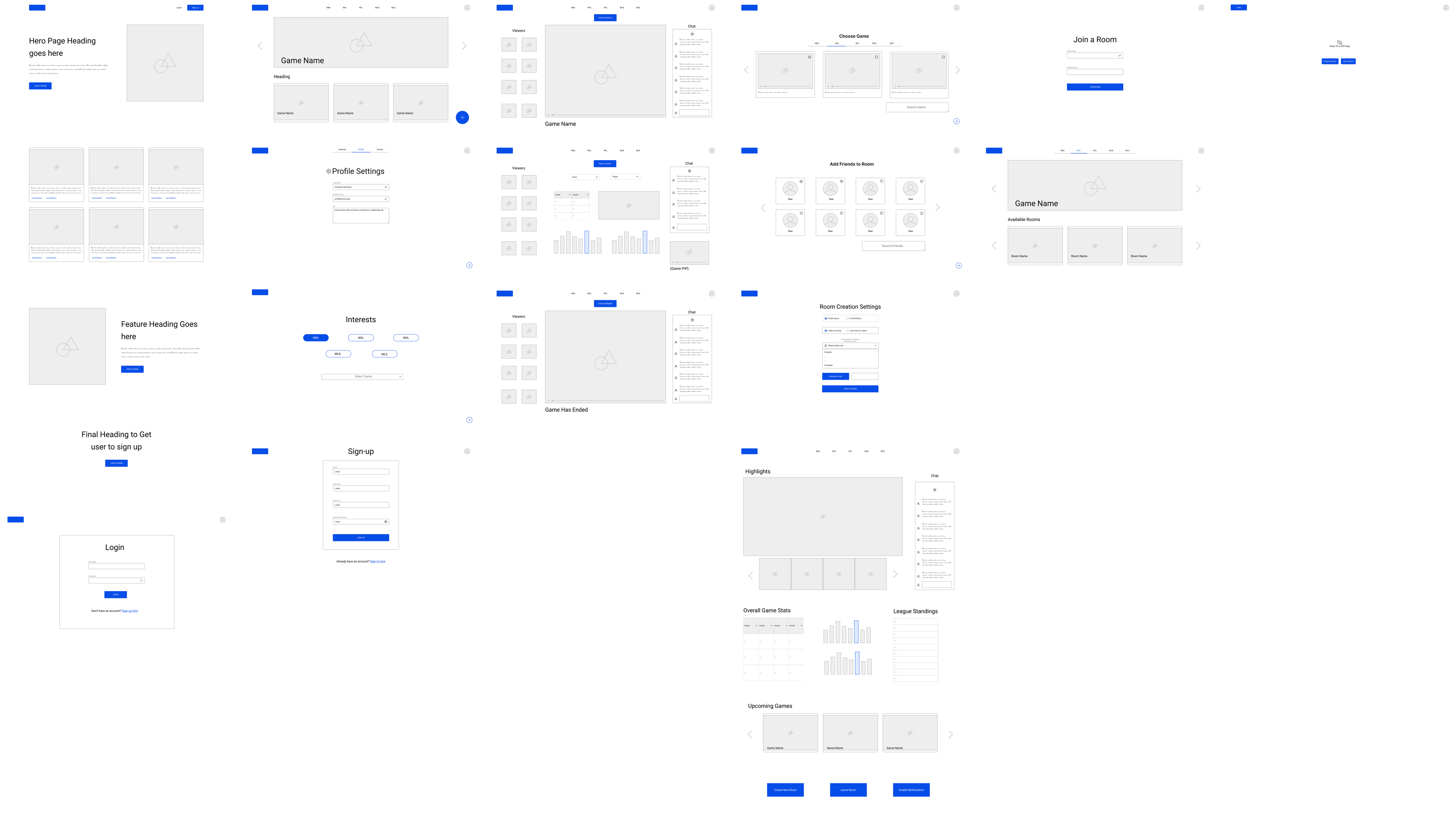 The wireframes we created collaboratively in Figma.