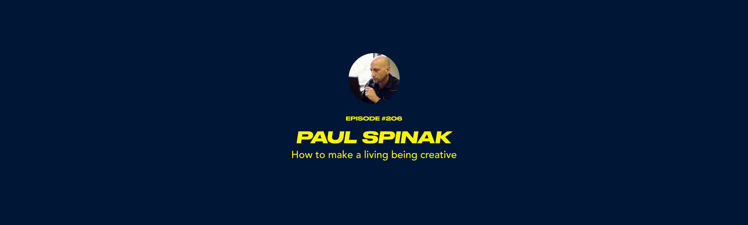 Paul Spinak - How to make a living being creative