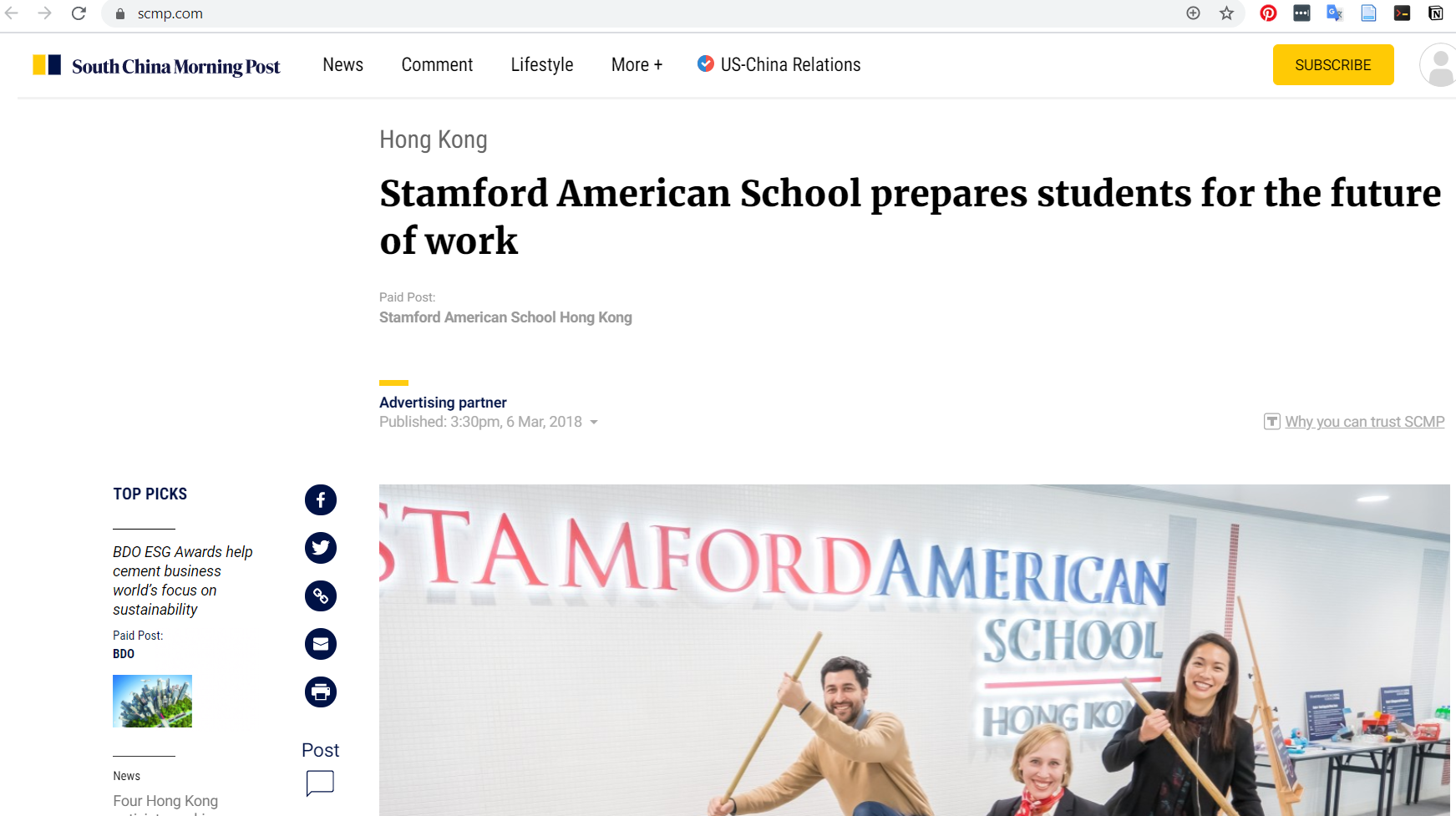 """""""Stamford American School prepares students for the future of work"""""""