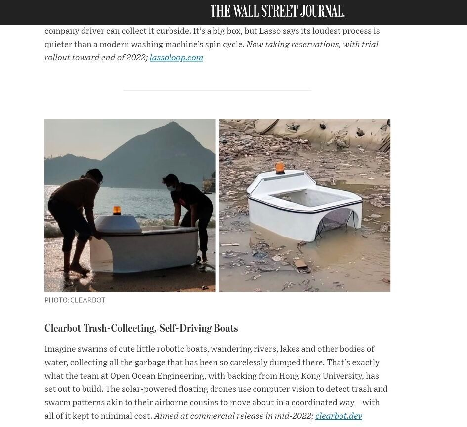 Clearbot in the Wall Street Journal