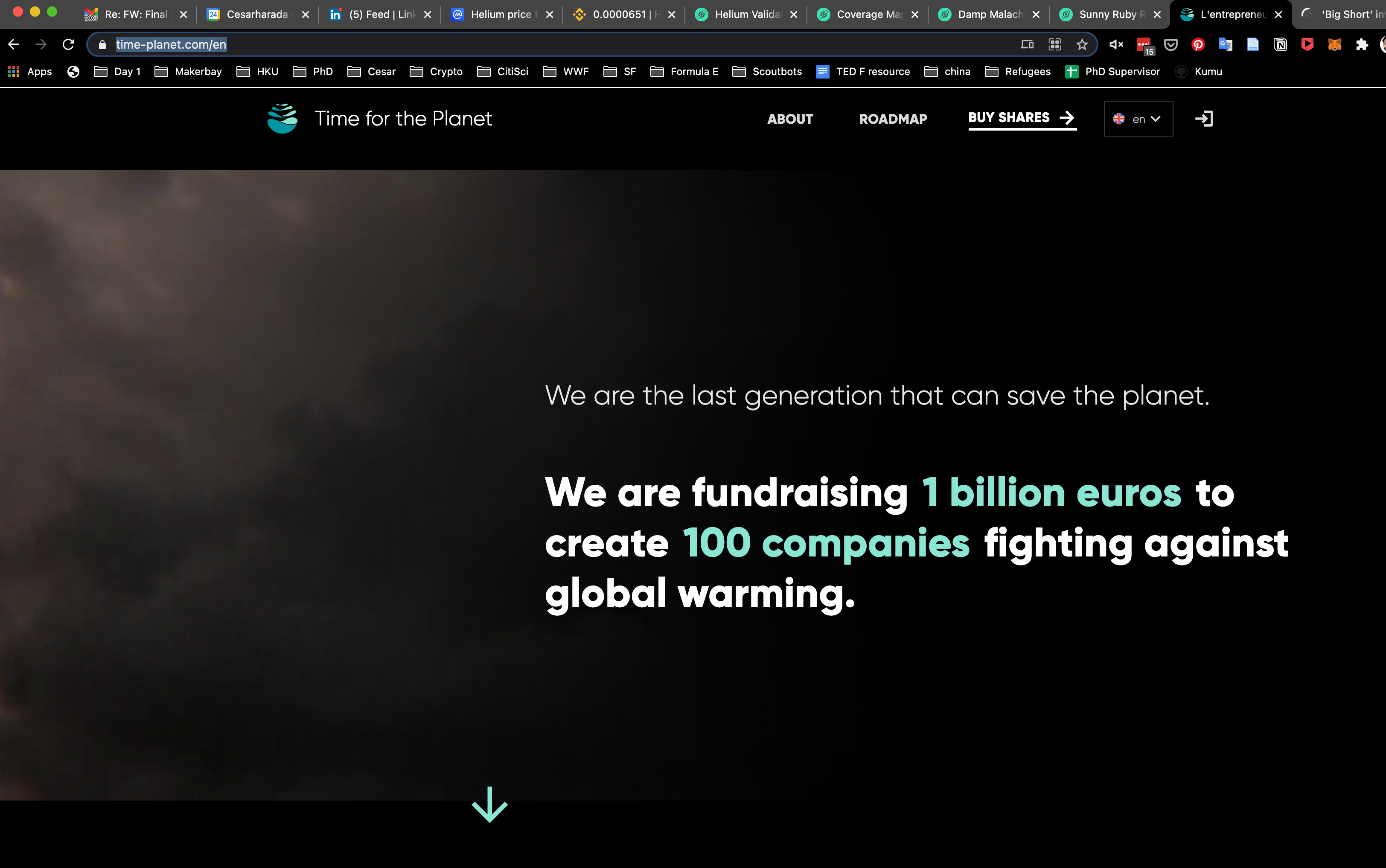 Time Planet, Investment fund to save the planet
