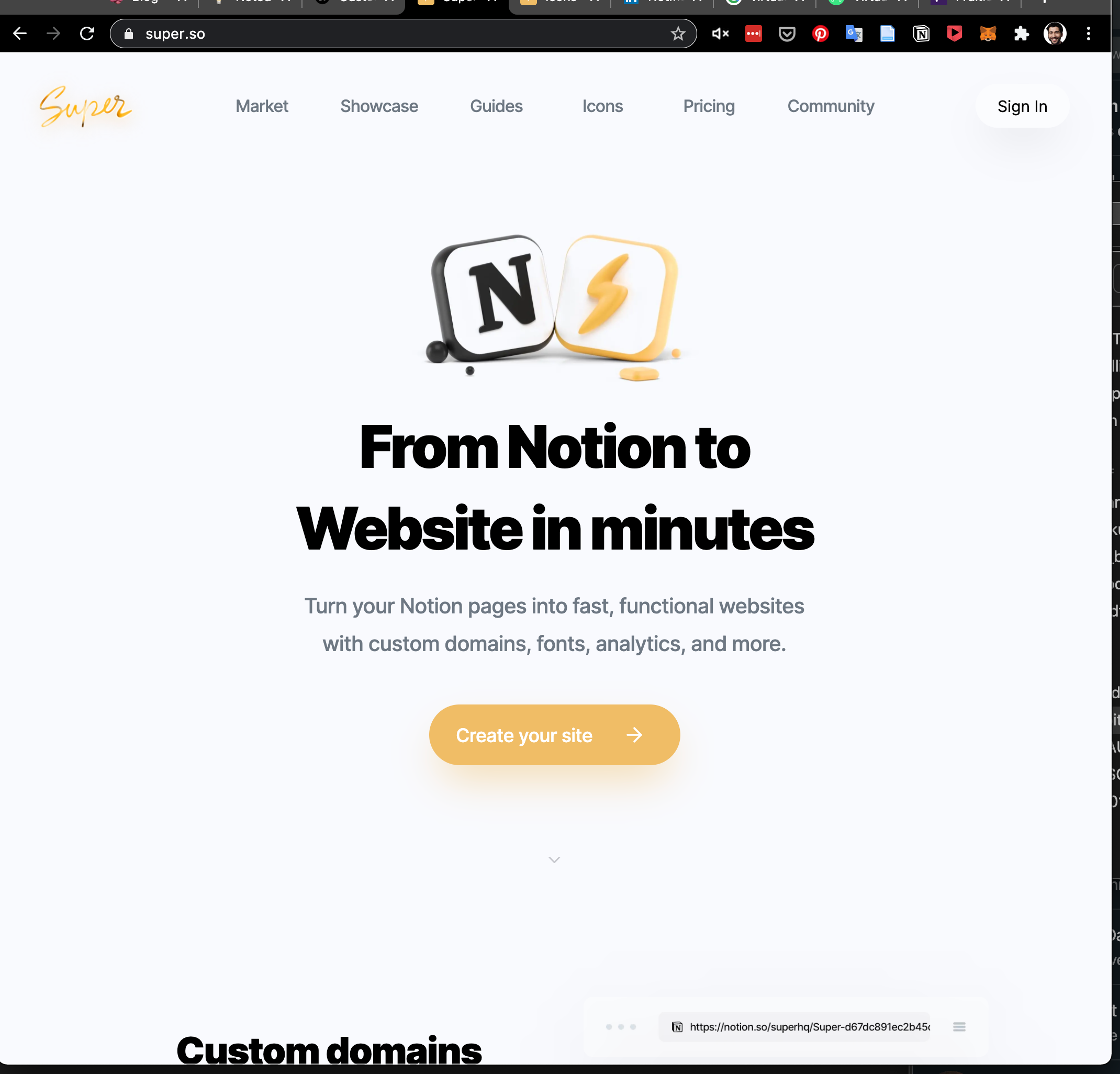 New website, powered by Notion and Fruition