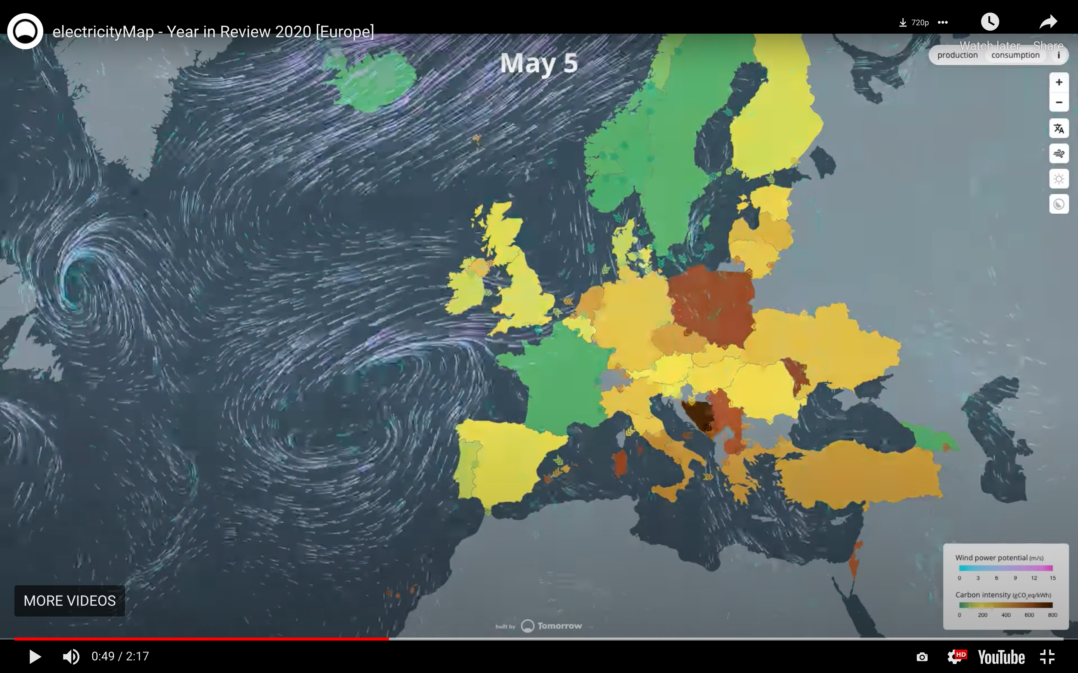 Electricity Map, Europe Renewable and Nuclear Debate [Francais]