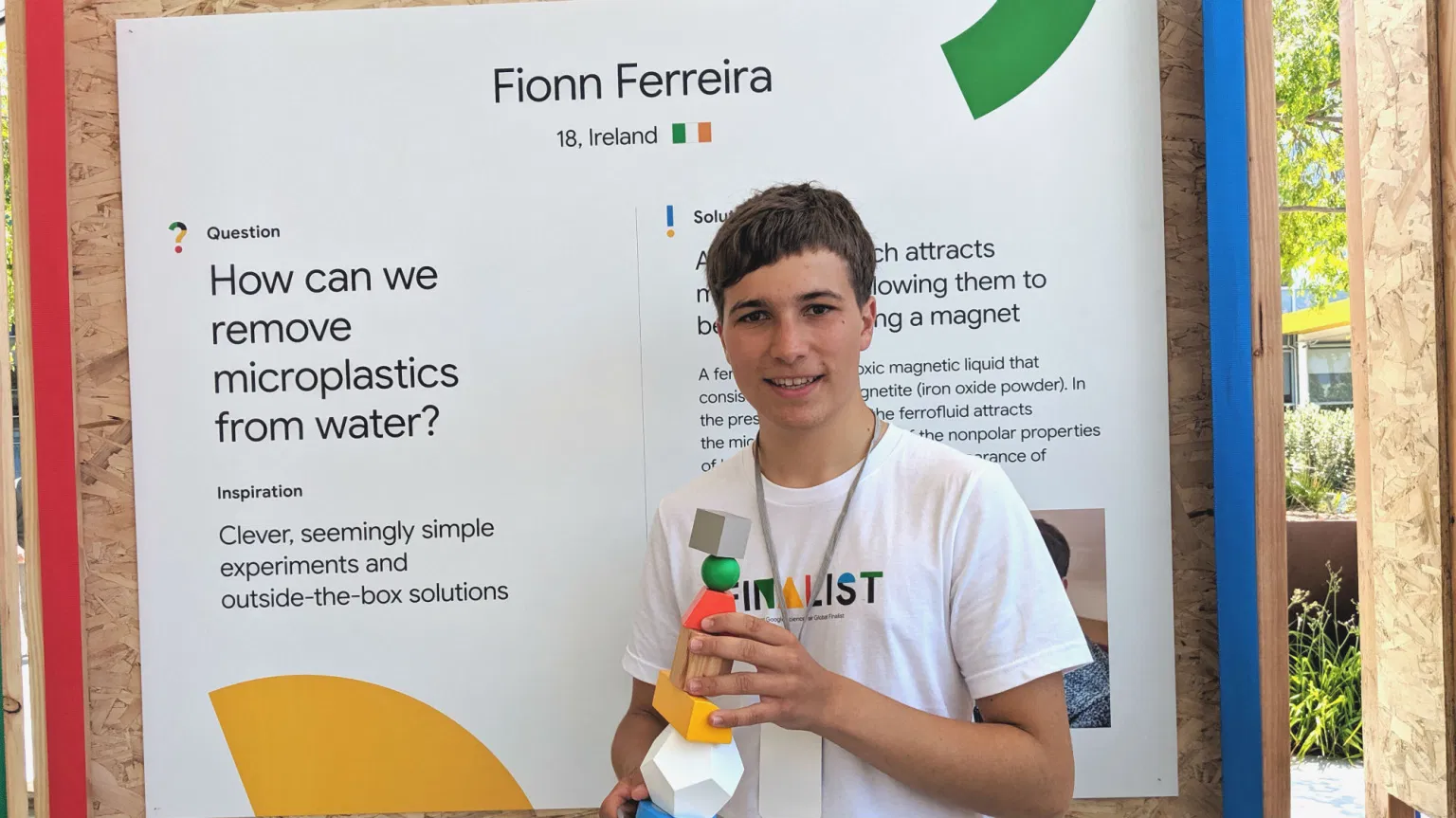 A teen scientist figures out how to suck Microplastics from the Ocean.