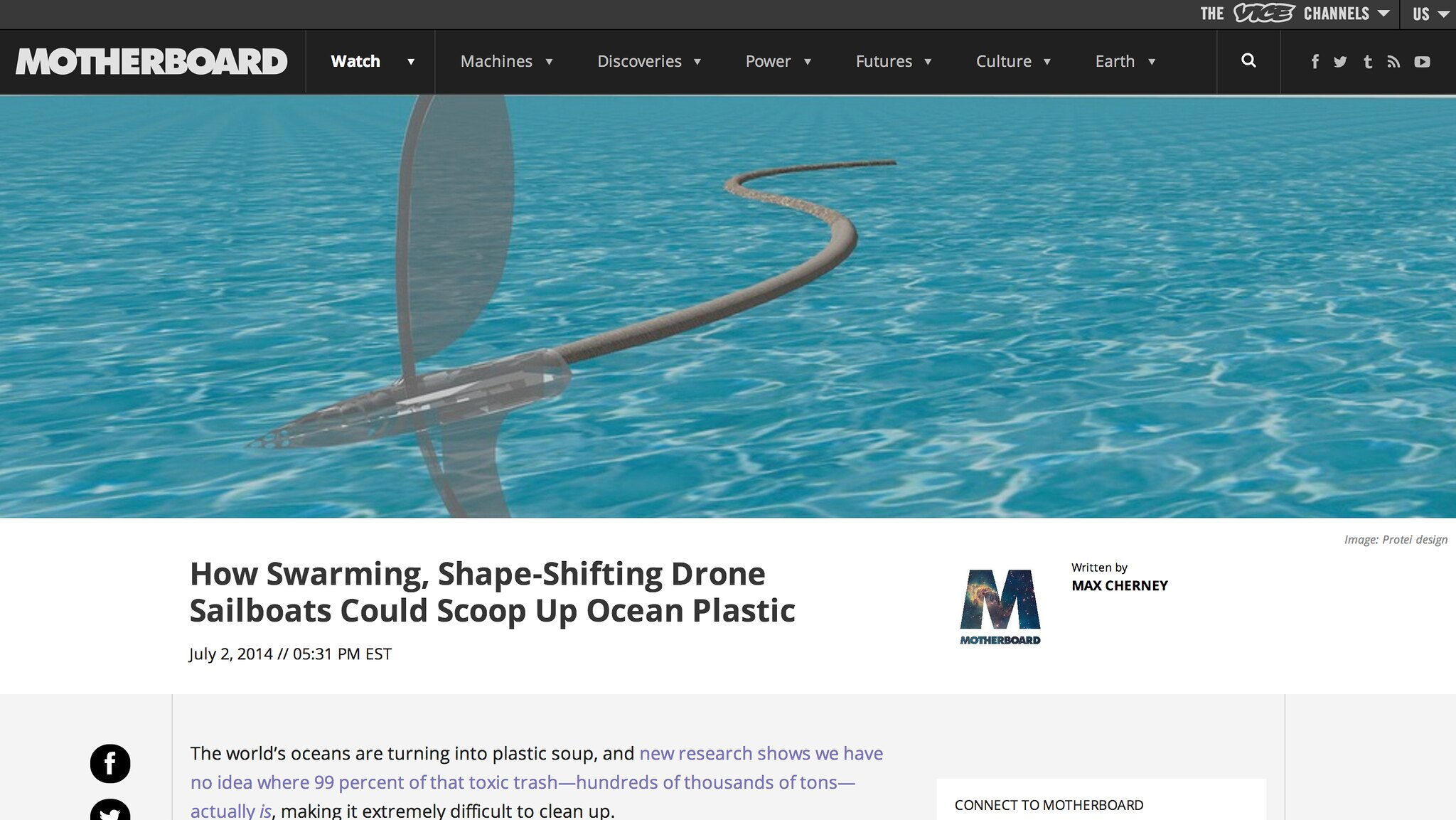 How Swarming Shape-Shifting Sailing robots could could scoop up the ocean
