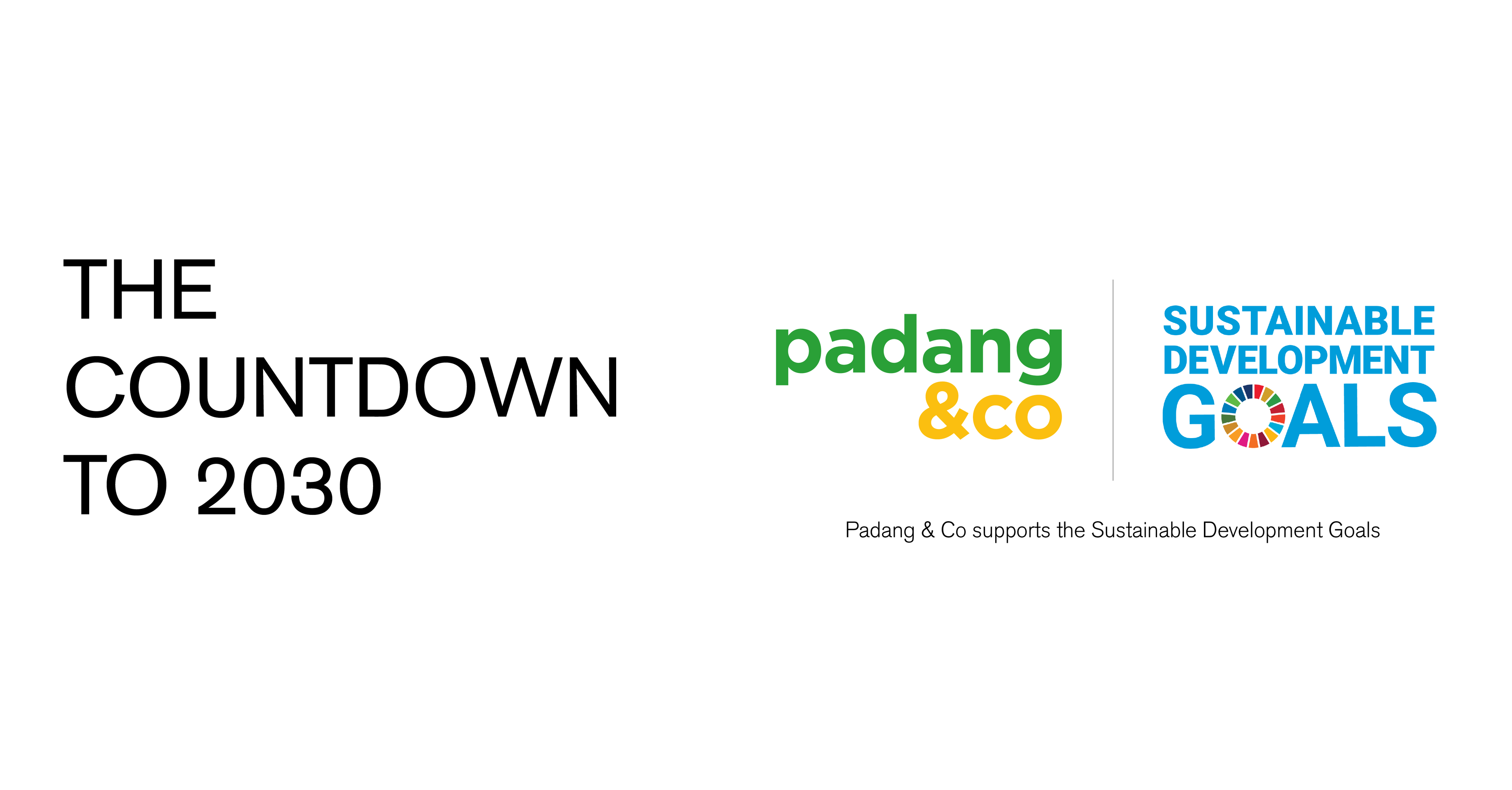 The Countdown To 2030 │ Padang & Co in support of the SDGs.