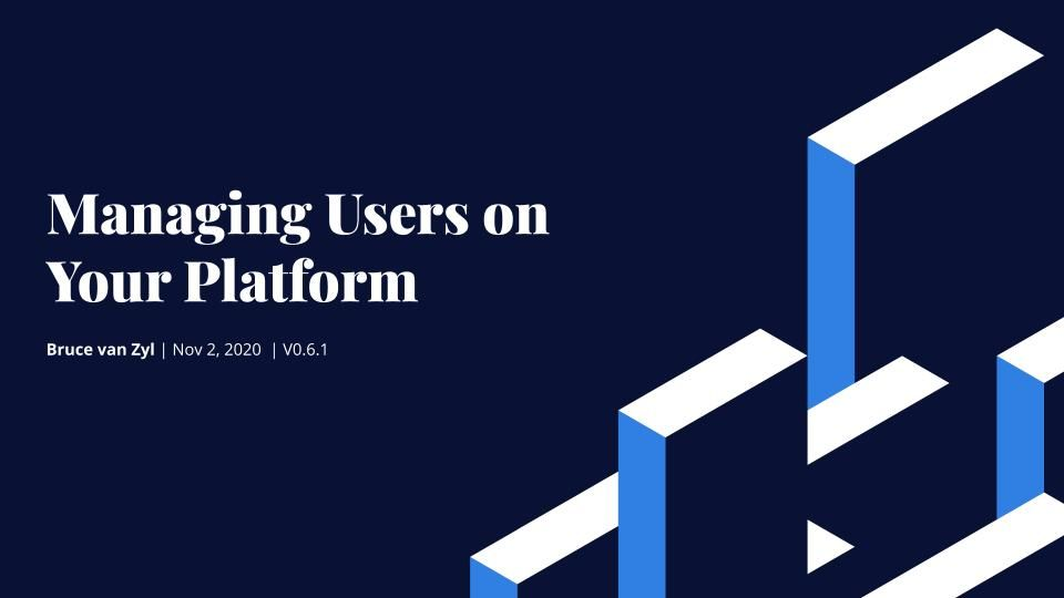 Managing Users on Your Platform