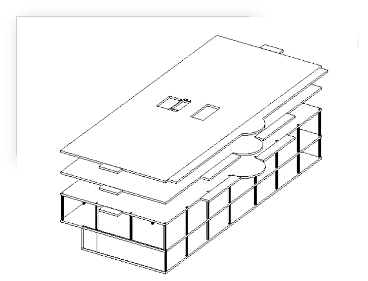 3D Structural Frame View