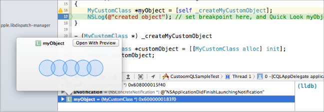 Xcode Debugging - How to add quick look in your custom types