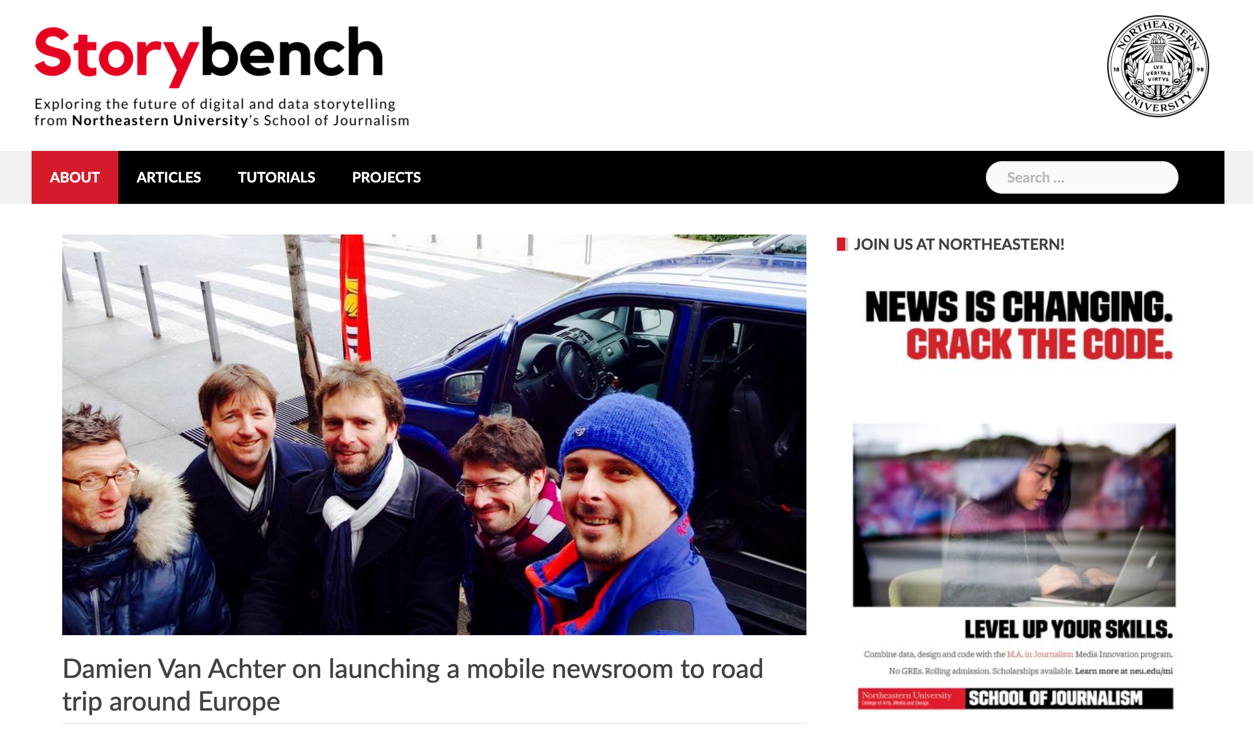 Damien Van Achter on launching a mobile newsroom to road trip around Europe