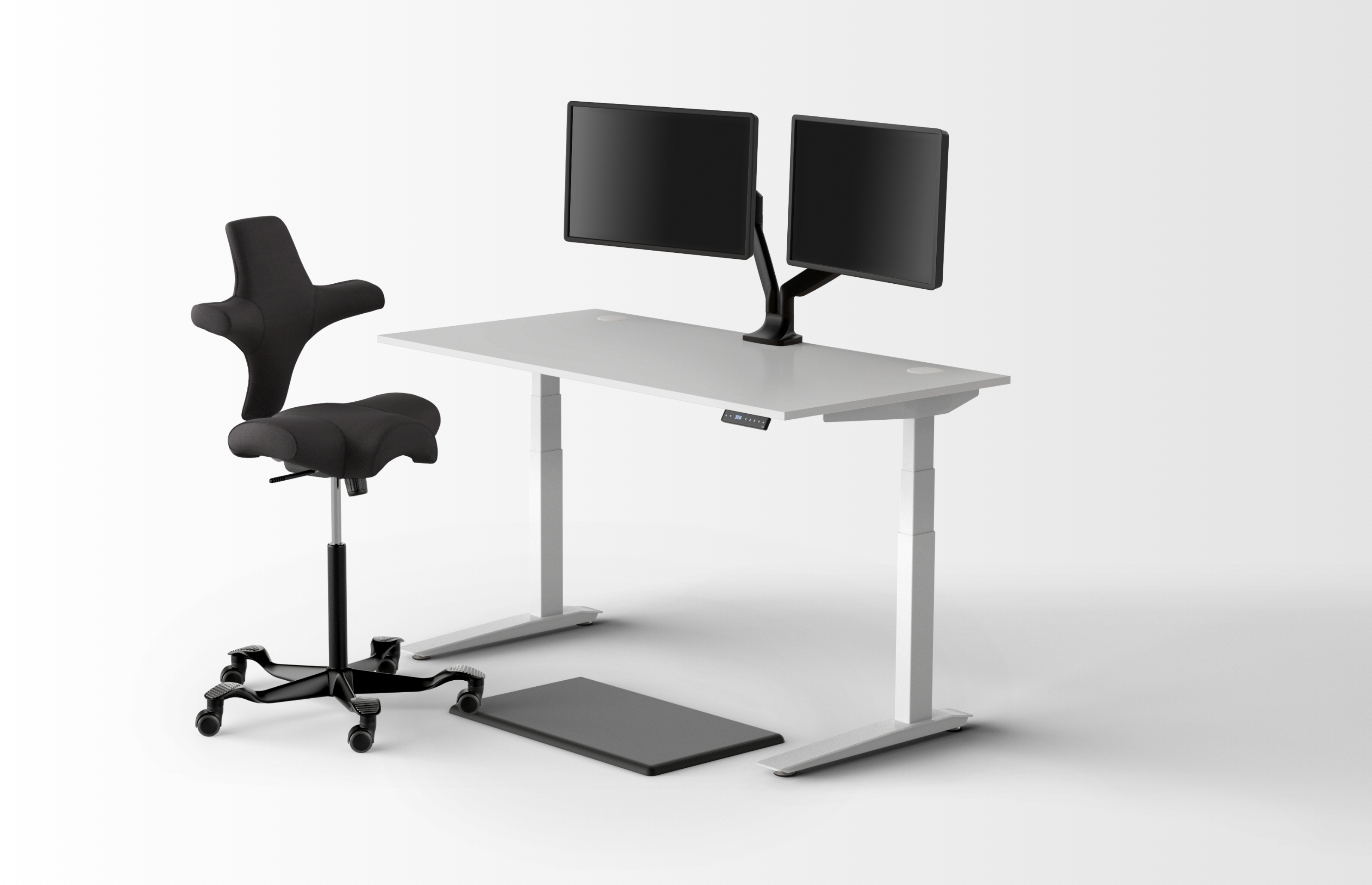 Fully - Standing desks, chairs