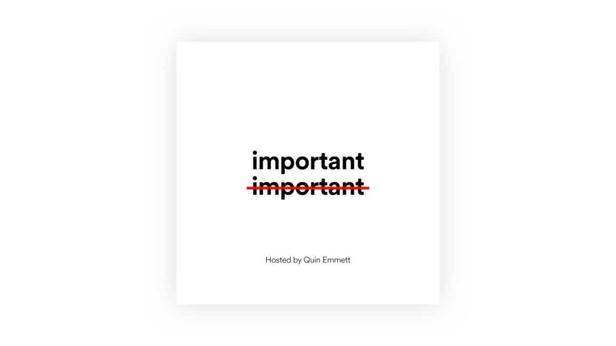 Important, Not Important