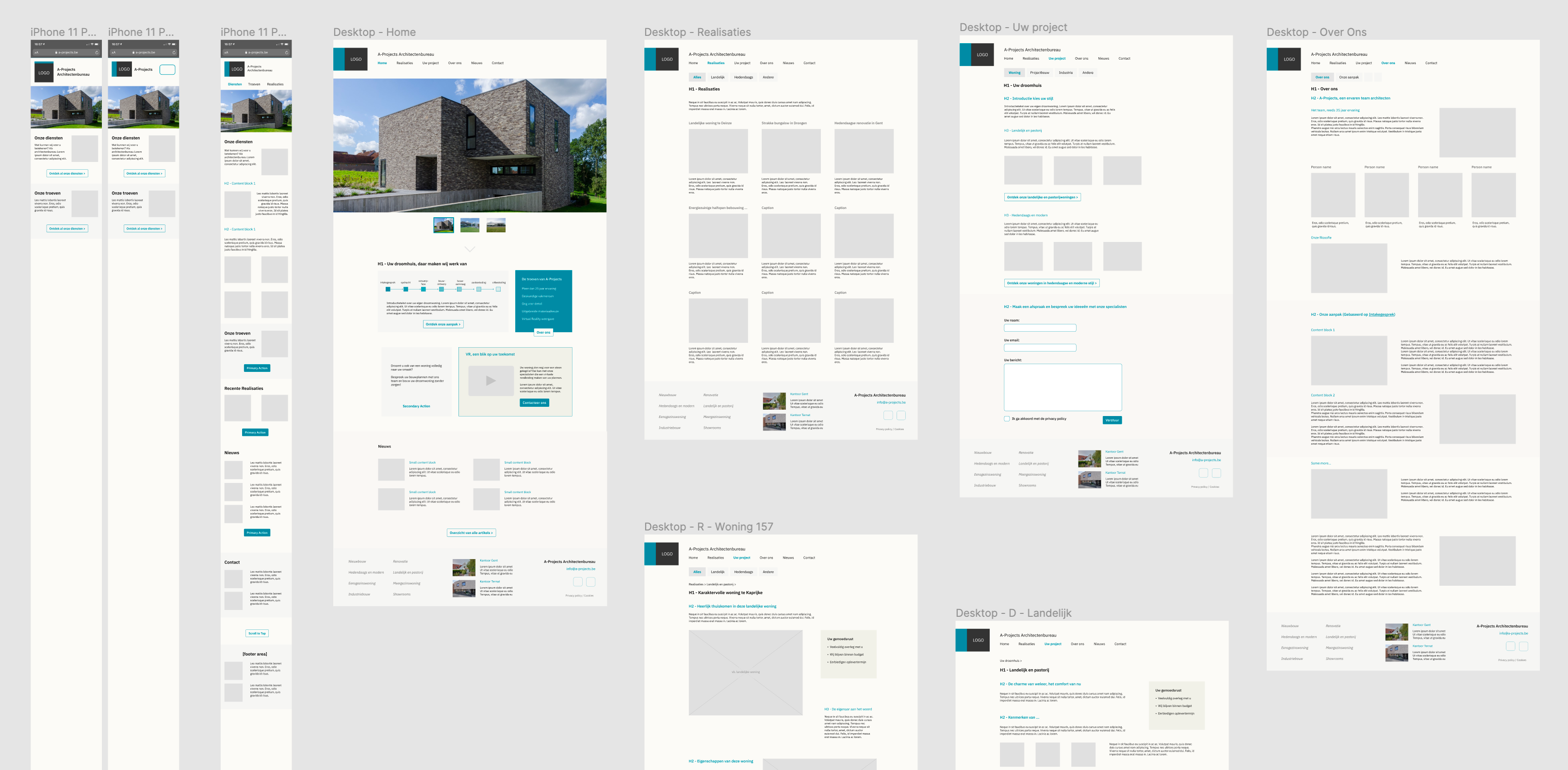 P4D Wireframes