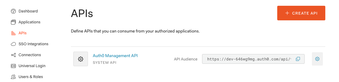 """Go to the APIs section and click """"Auth0 Management API""""."""