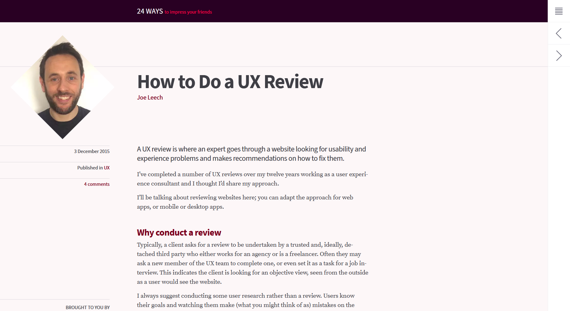 How to Do a UX Review