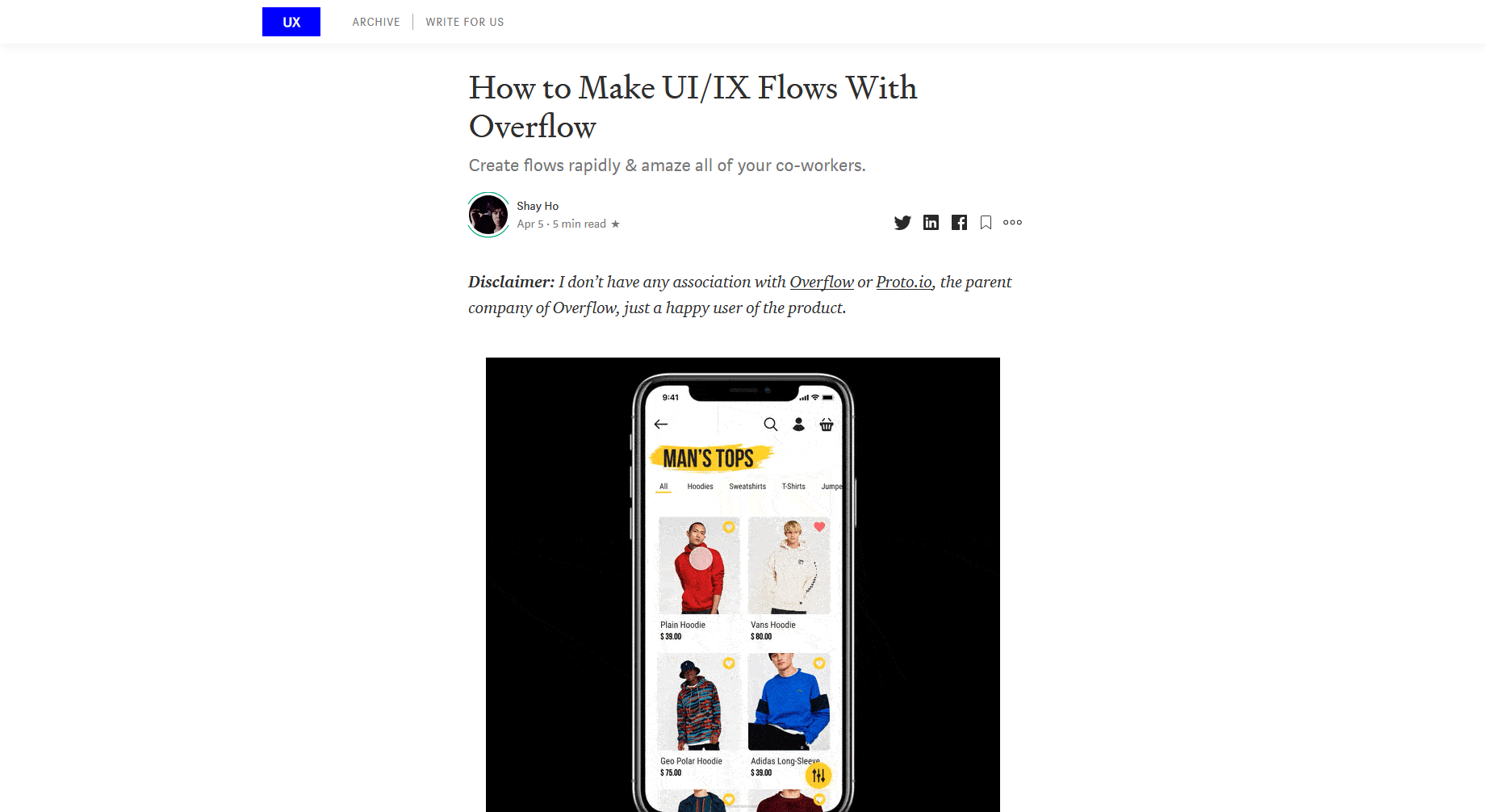 How to Make UI/IX Flows With Overflow — UX in Plain English