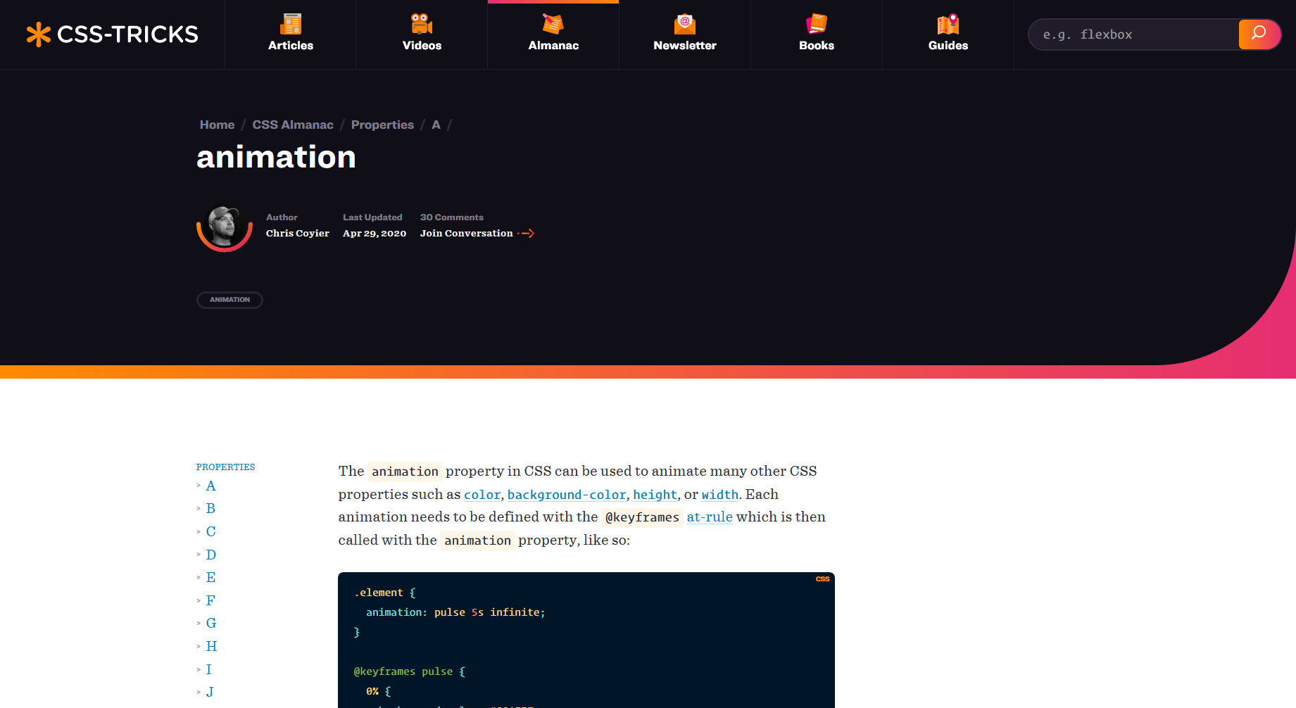 The Animation Property — CSS Tricks