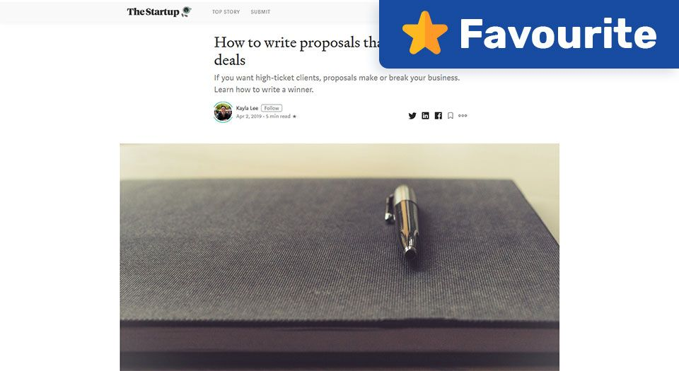 How to Write Proposals that Win 80% of Deals — The Startup