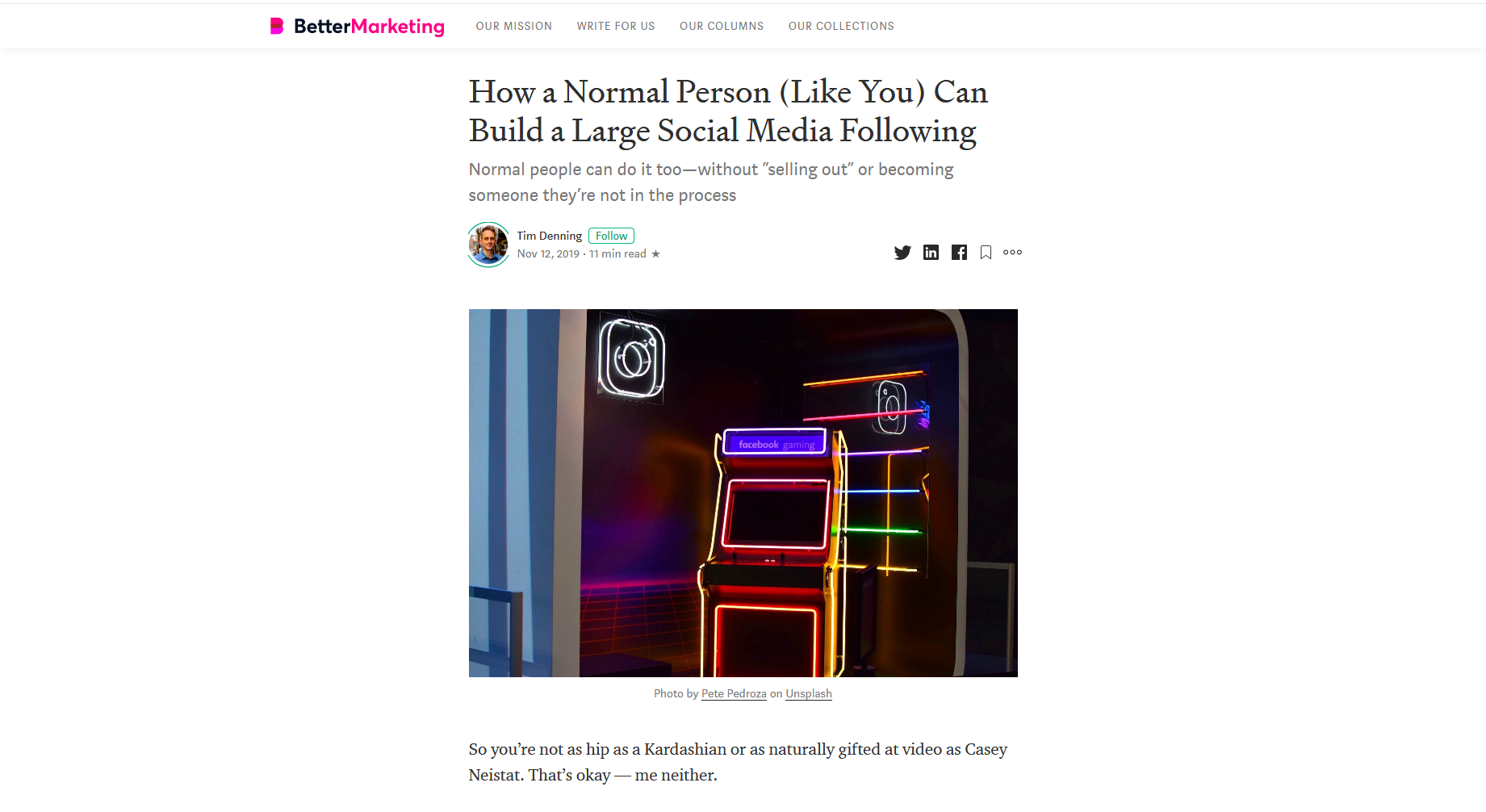 How a Normal Person (Like You) Can Build a Large Social Media Following