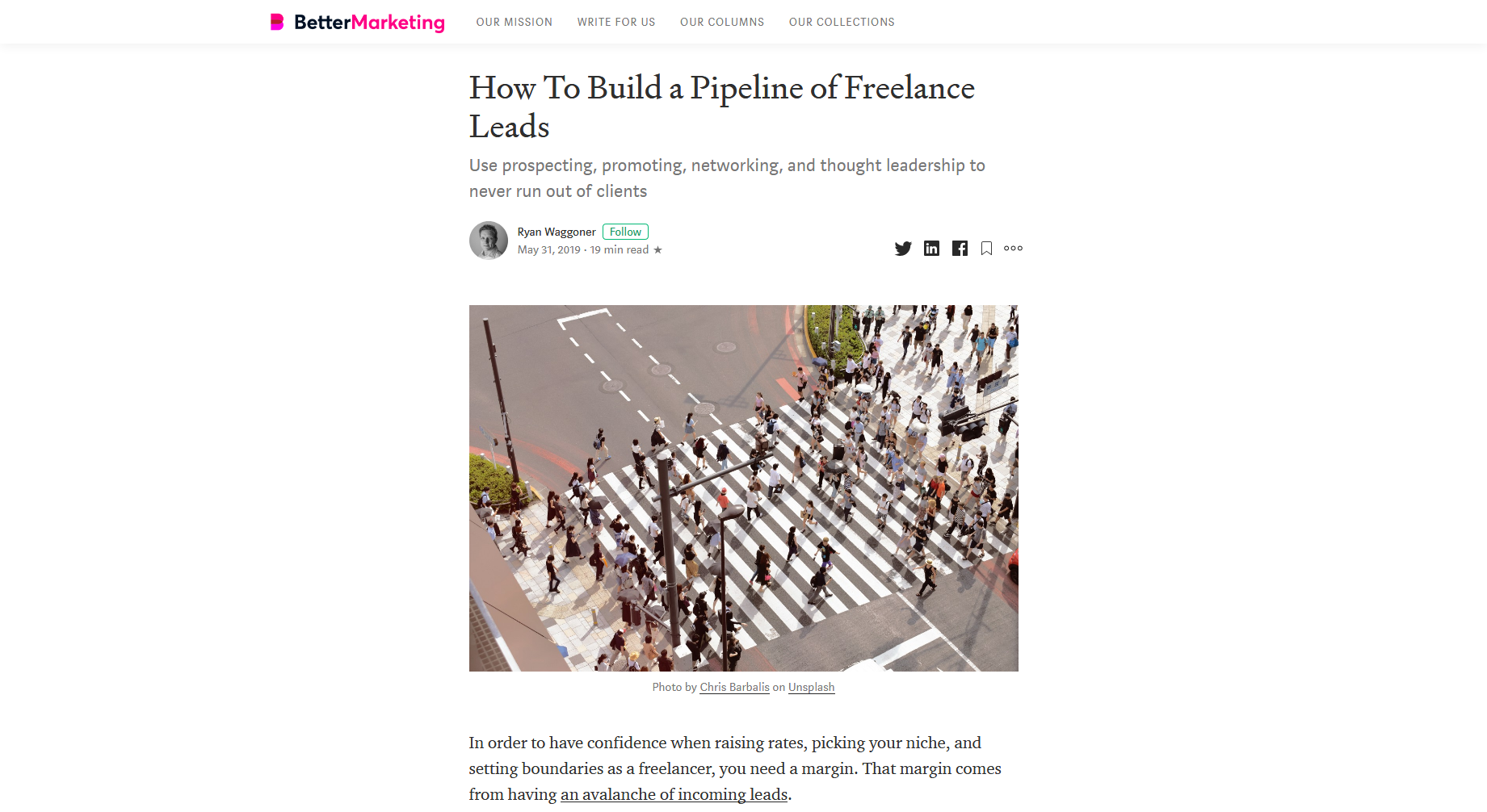 How to Build a Pipeline of Freelance Leads