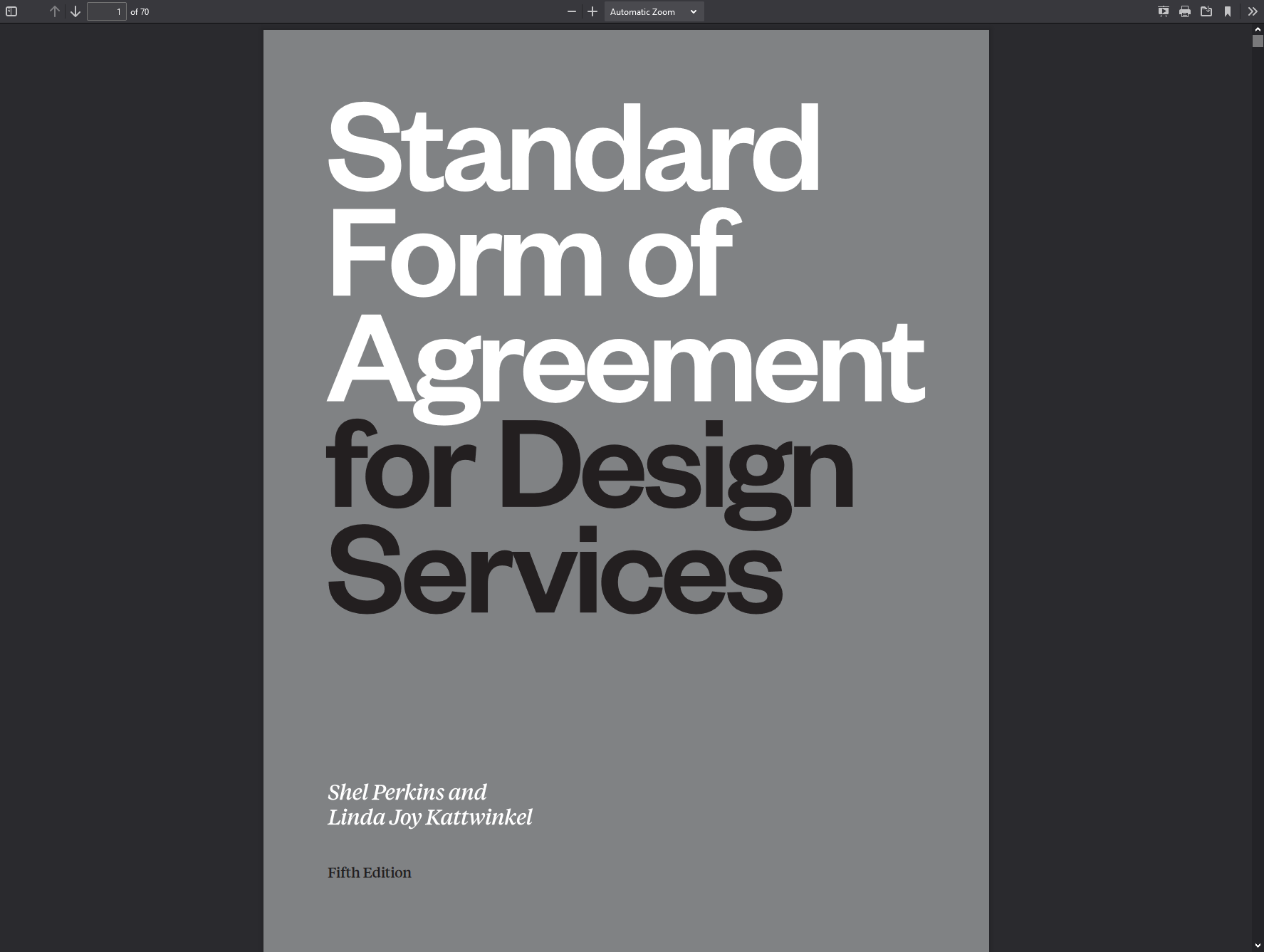 Standard Form of Agreement Template for Design Services by AIGA