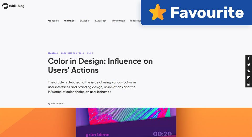 Color in Design: Influence on Users' Actions — Tubik Blog