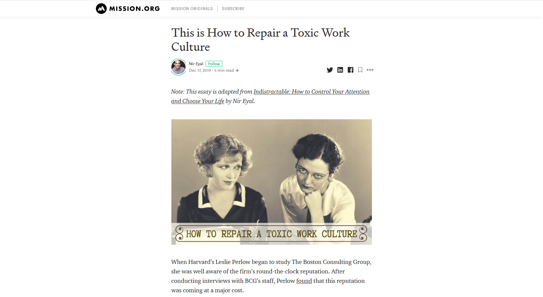 This is How to Repair a Toxic Work Culture