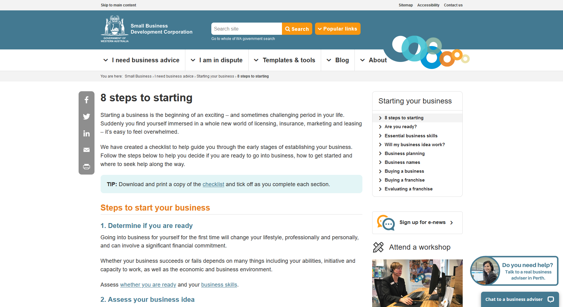 8 Steps to Starting — Small Business Development Corporation